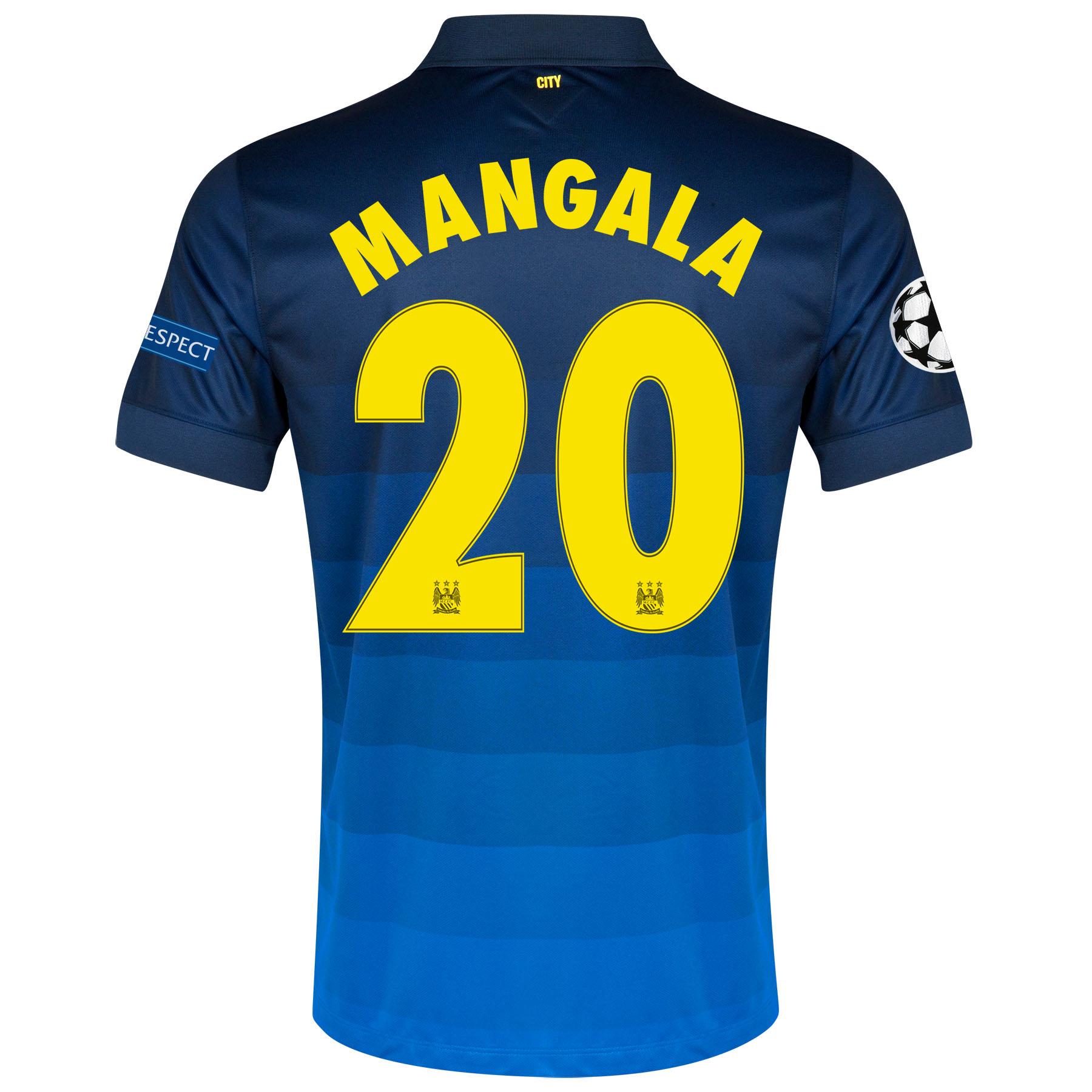 Manchester City UEFA Champions League Away Shirt 2014/15 with Mangala 20 printing