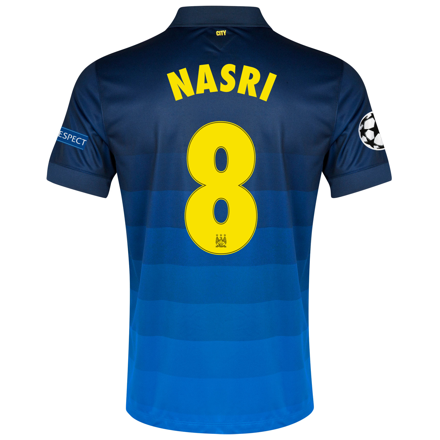 Manchester City UEFA Champions League Away Shirt 2014/15 - Kids with Nasri 8 printing