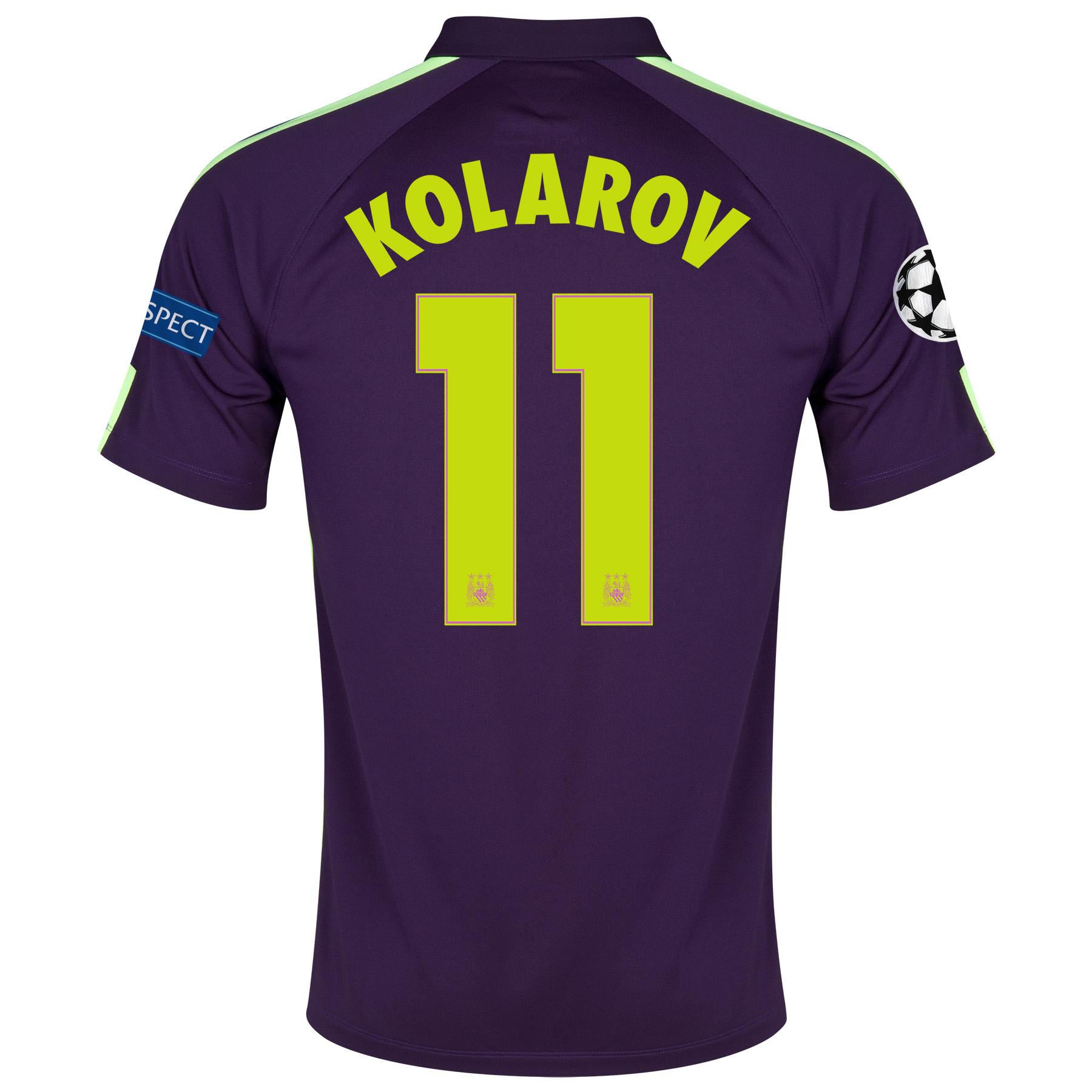 Manchester City UEFA Champions League Cup Away Shirt 2014/15 - Kids Purple with Kolarov 11 printing