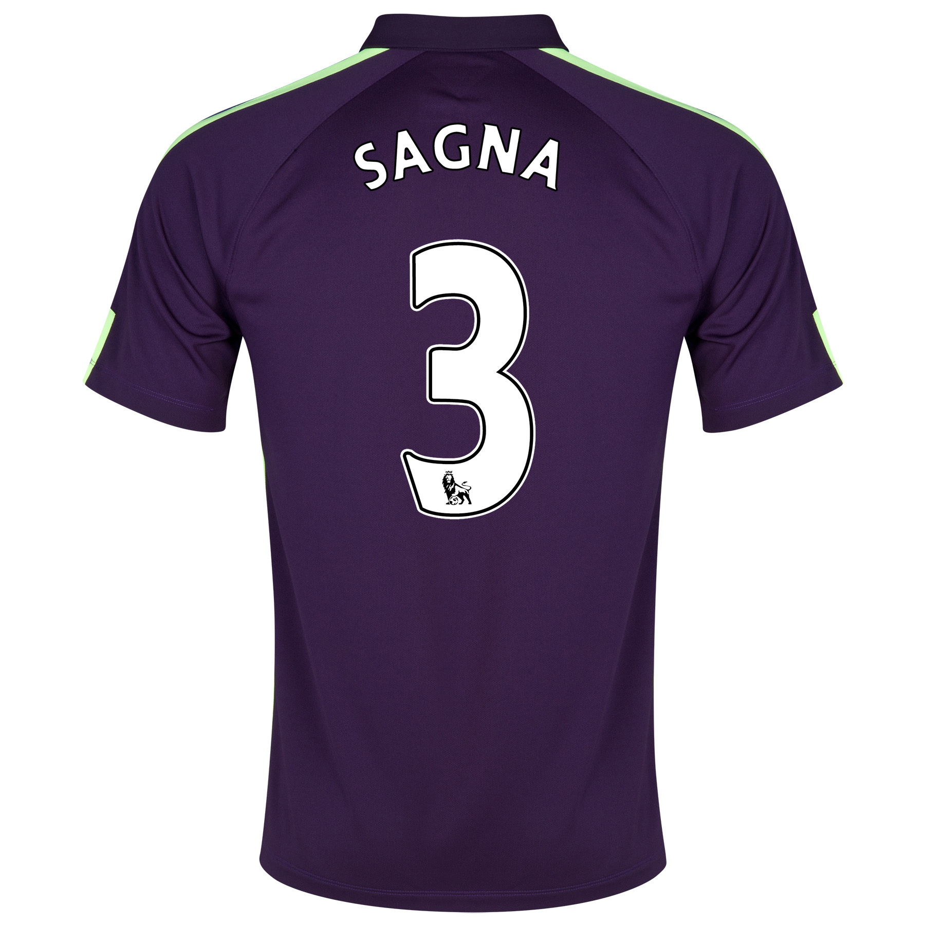 Manchester City Cup Away Shirt 2014/15 Purple with Sagna 3 printing