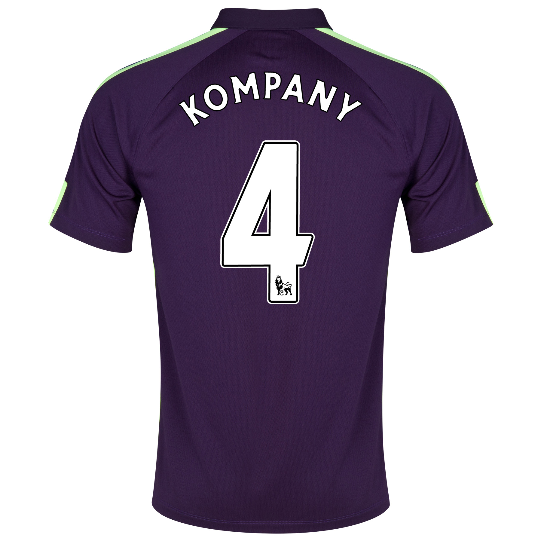 Manchester City Cup Away Shirt 2014/15 Purple with Kompany 4 printing