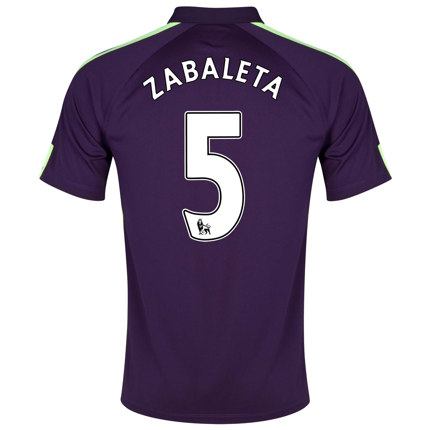 Manchester City Cup Away Shirt 2014/15 Purple with Zabaleta 5 printing