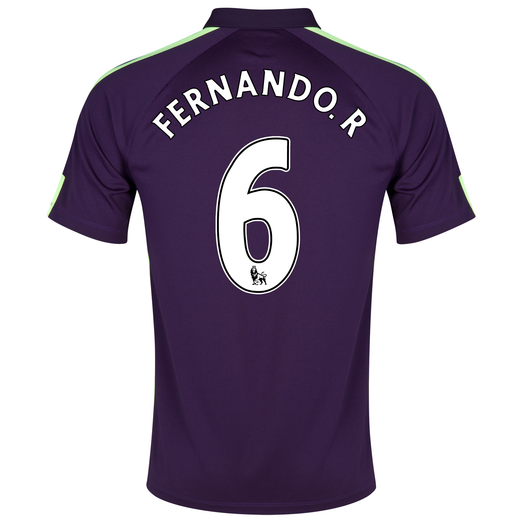 Manchester City Cup Away Shirt 2014/15 Purple with Fernando. R 6 printing