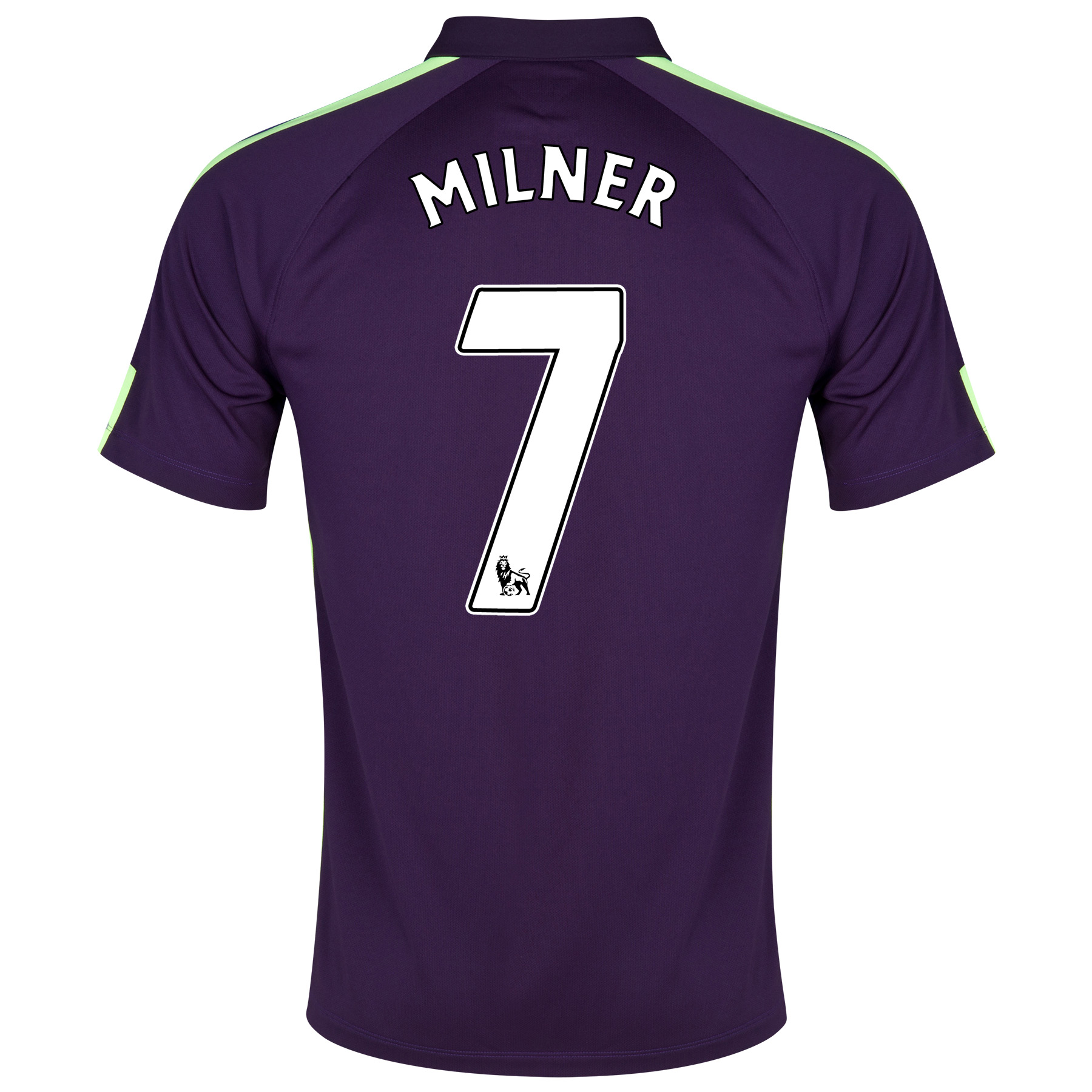 Manchester City Cup Away Shirt 2014/15 Purple with Milner 7 printing