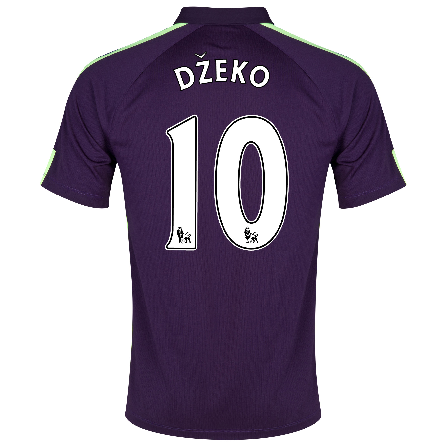 Manchester City Cup Away Shirt 2014/15 Purple with Dzeko 10 printing