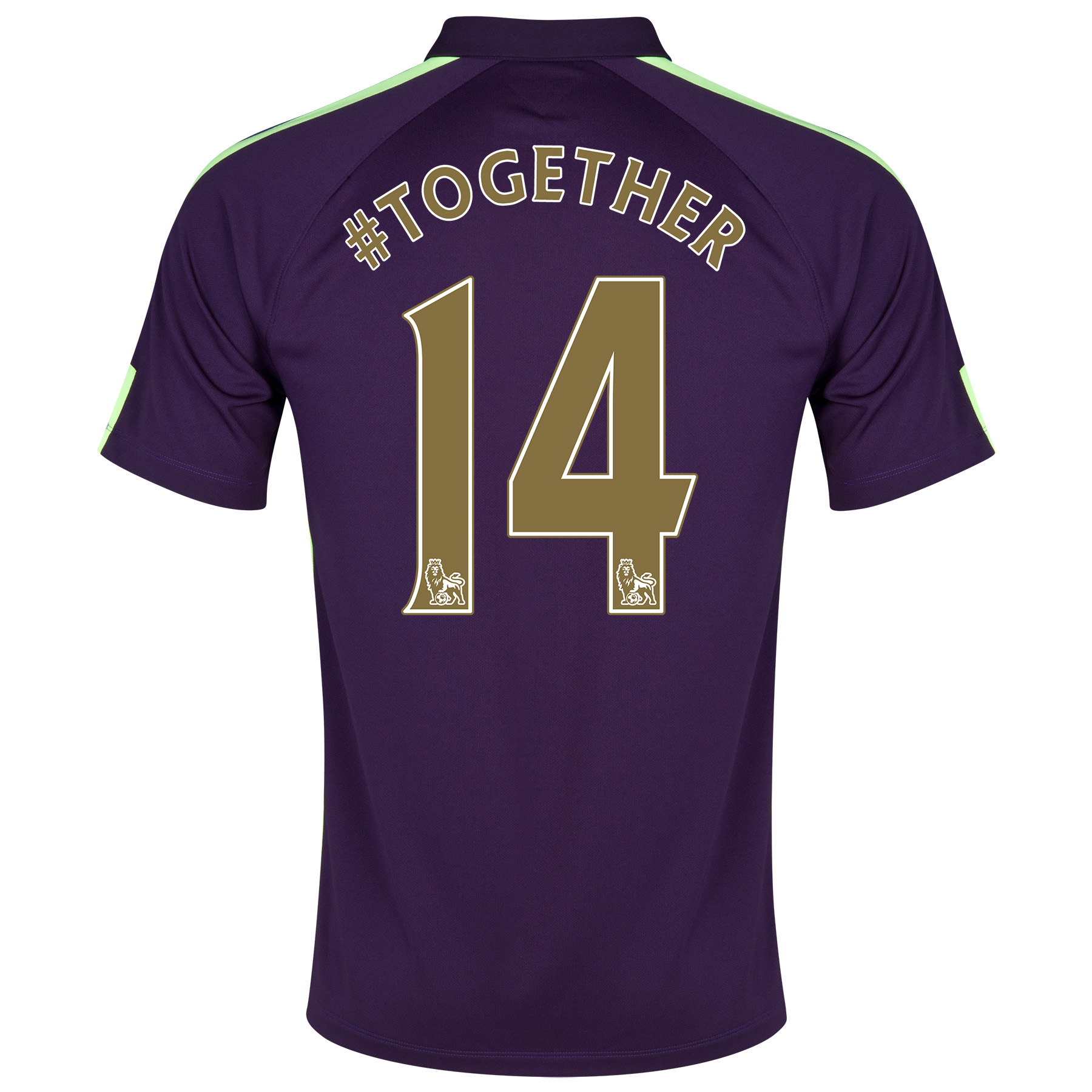 Manchester City Cup Away Shirt 2014/15 Purple with #together 14 printing