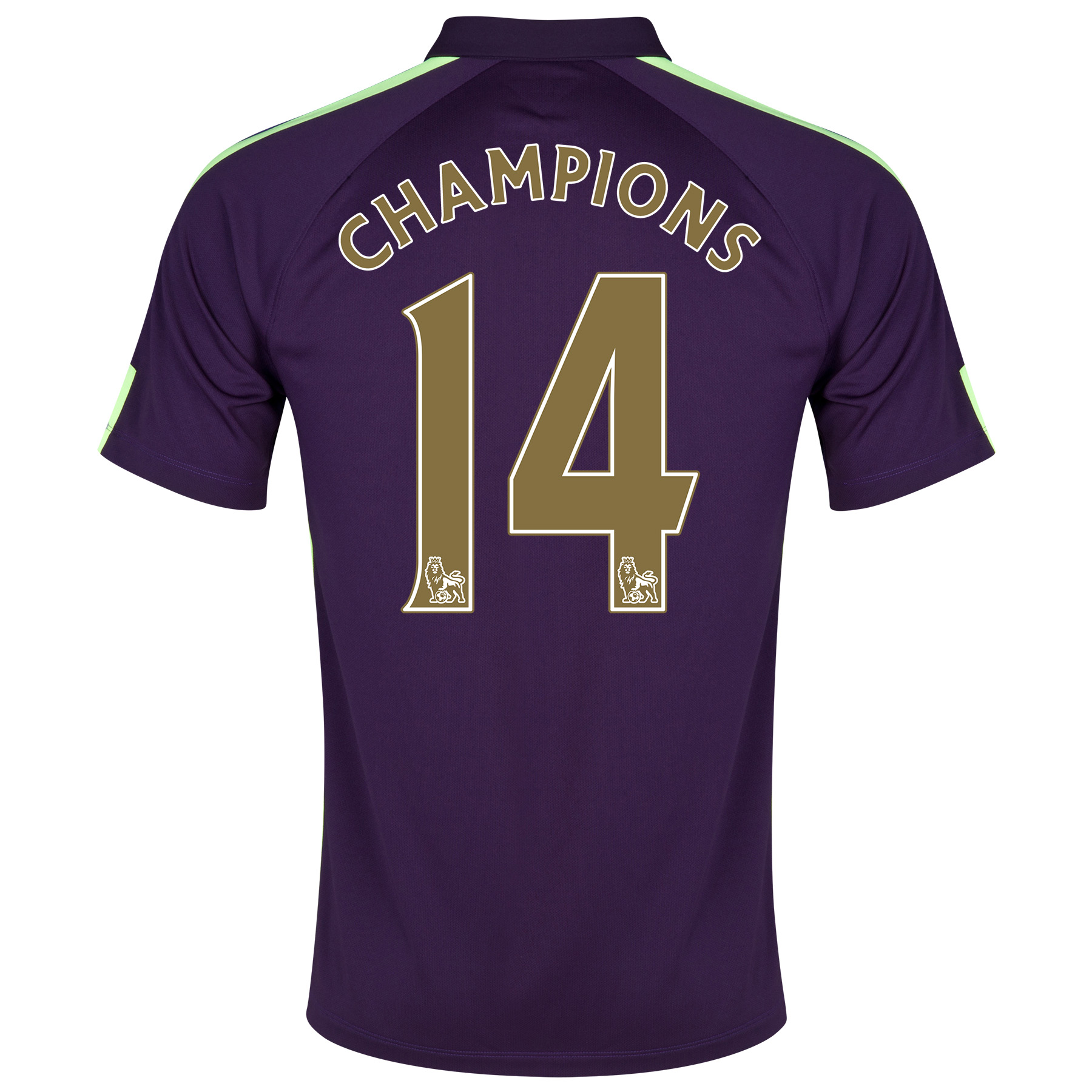 Manchester City Cup Away Shirt 2014/15 Purple with Champions 14 printing