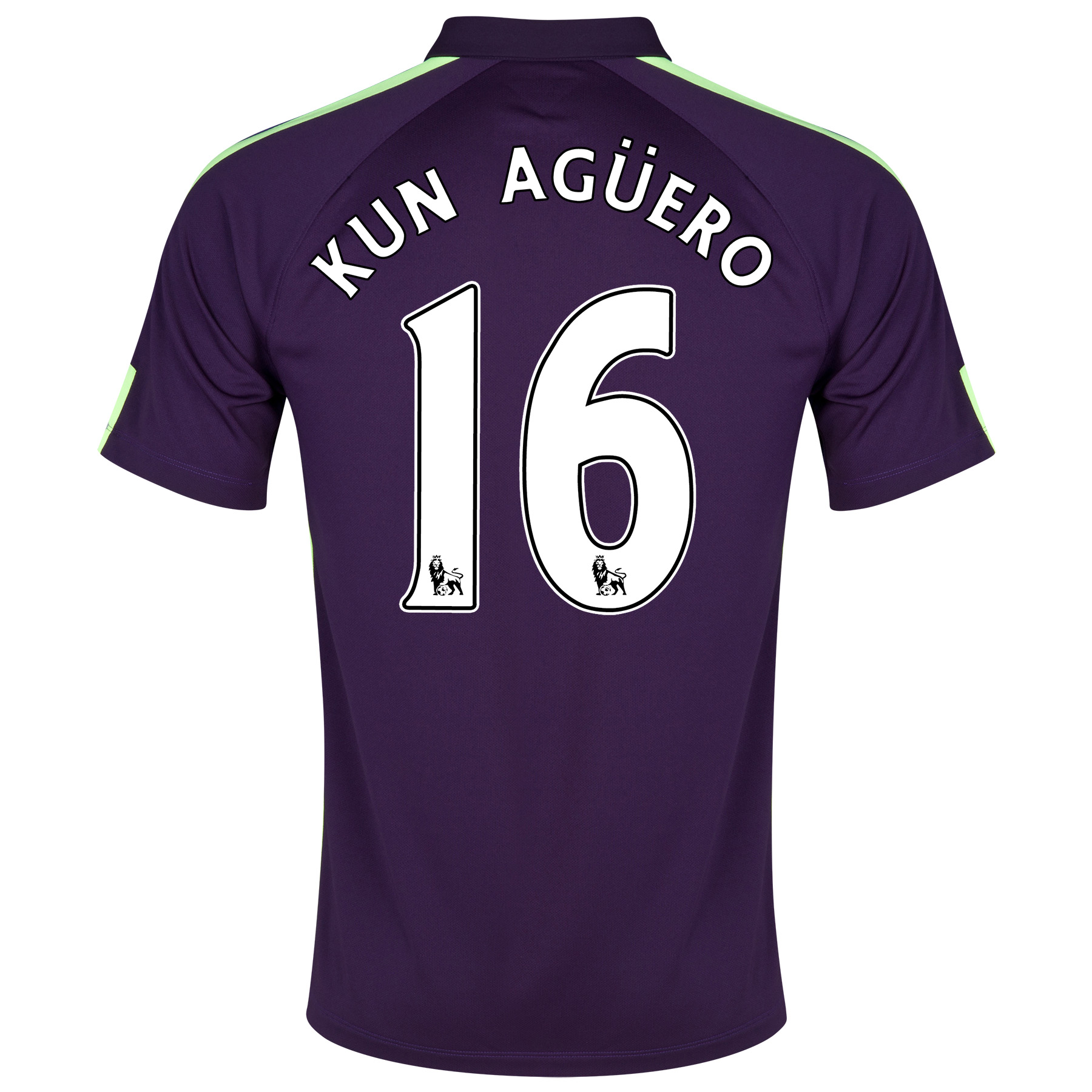 Manchester City Cup Away Shirt 2014/15 Purple with Kun Agüero  16 printing