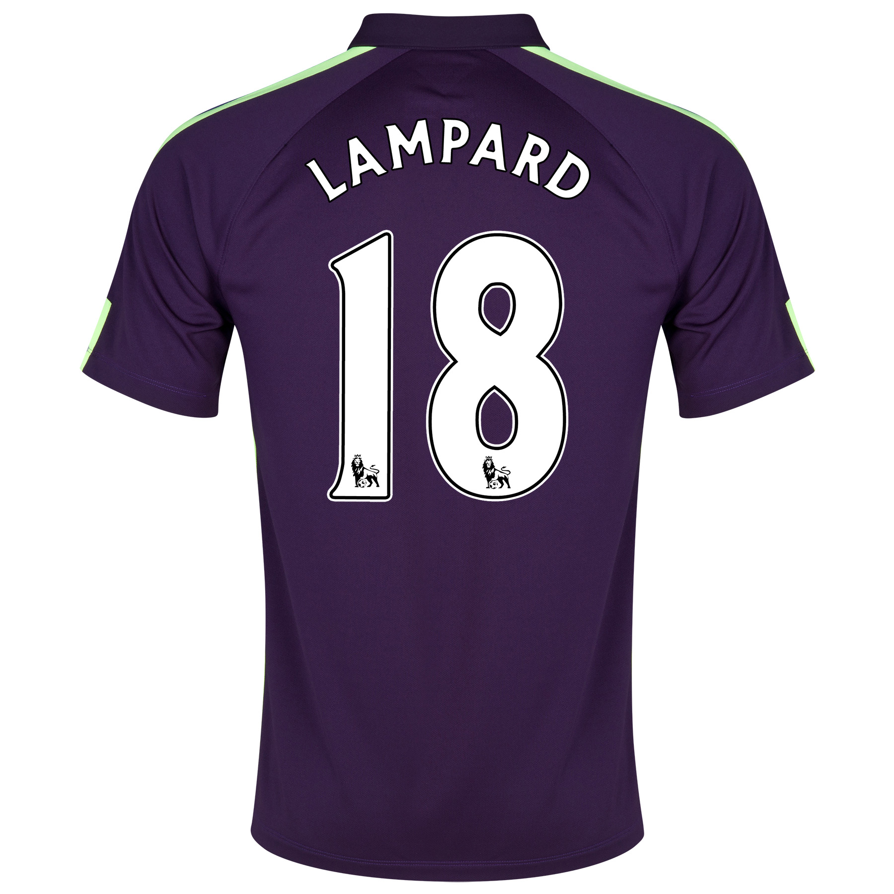Manchester City Cup Away Shirt 2014/15 Purple with Lampard 18 printing