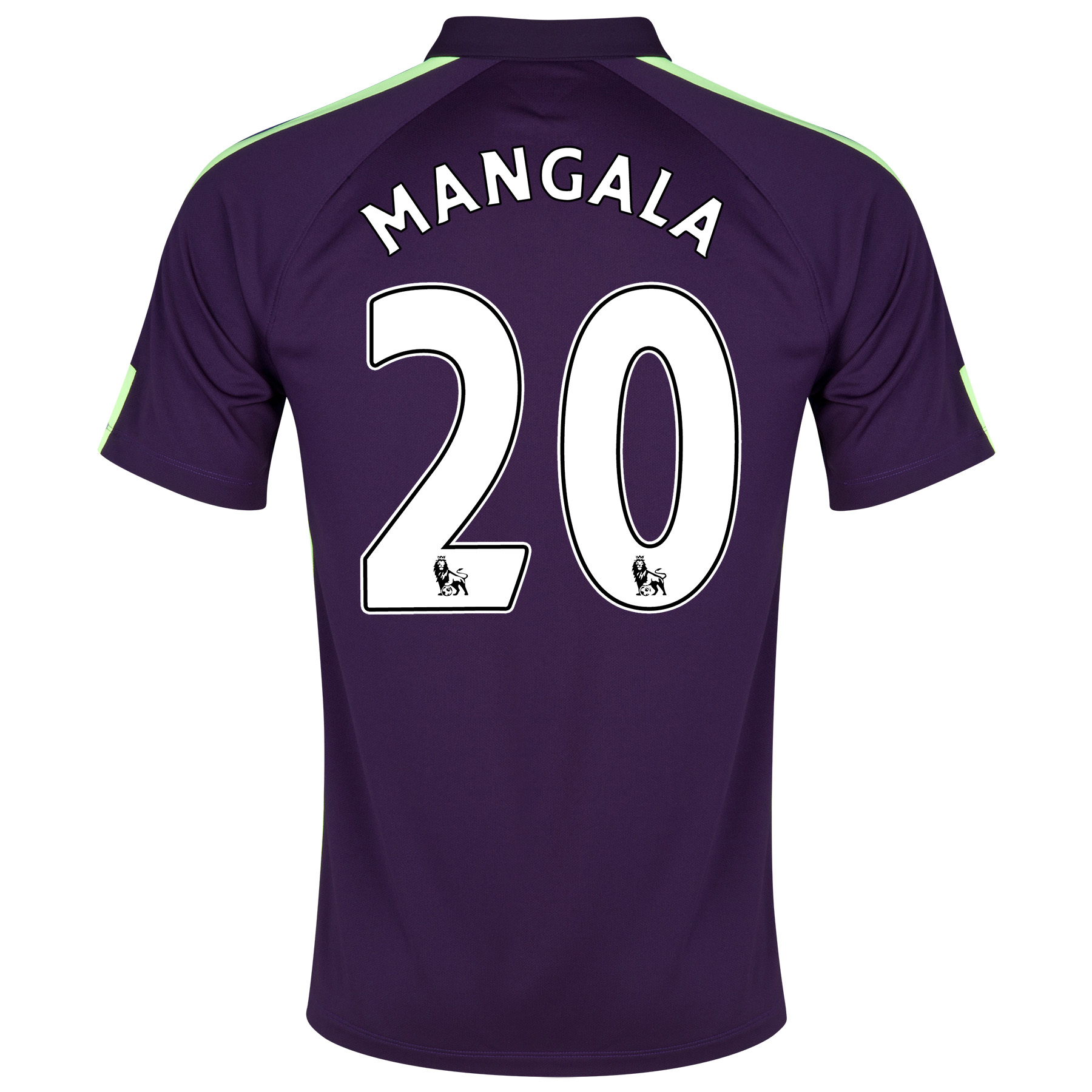 Manchester City Cup Away Shirt 2014/15 Purple with Mangala 20 printing