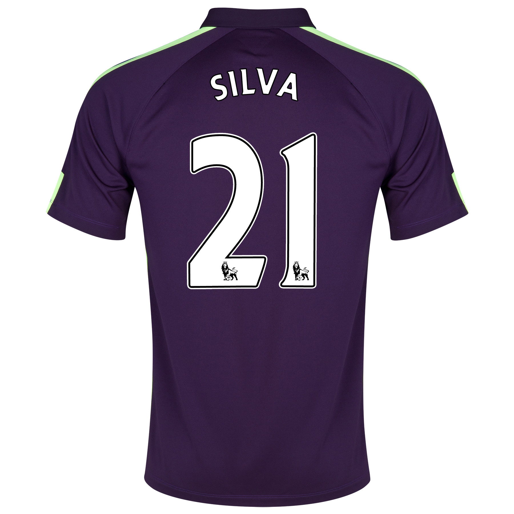 Manchester City Cup Away Shirt 2014/15 Purple with Silva 21 printing
