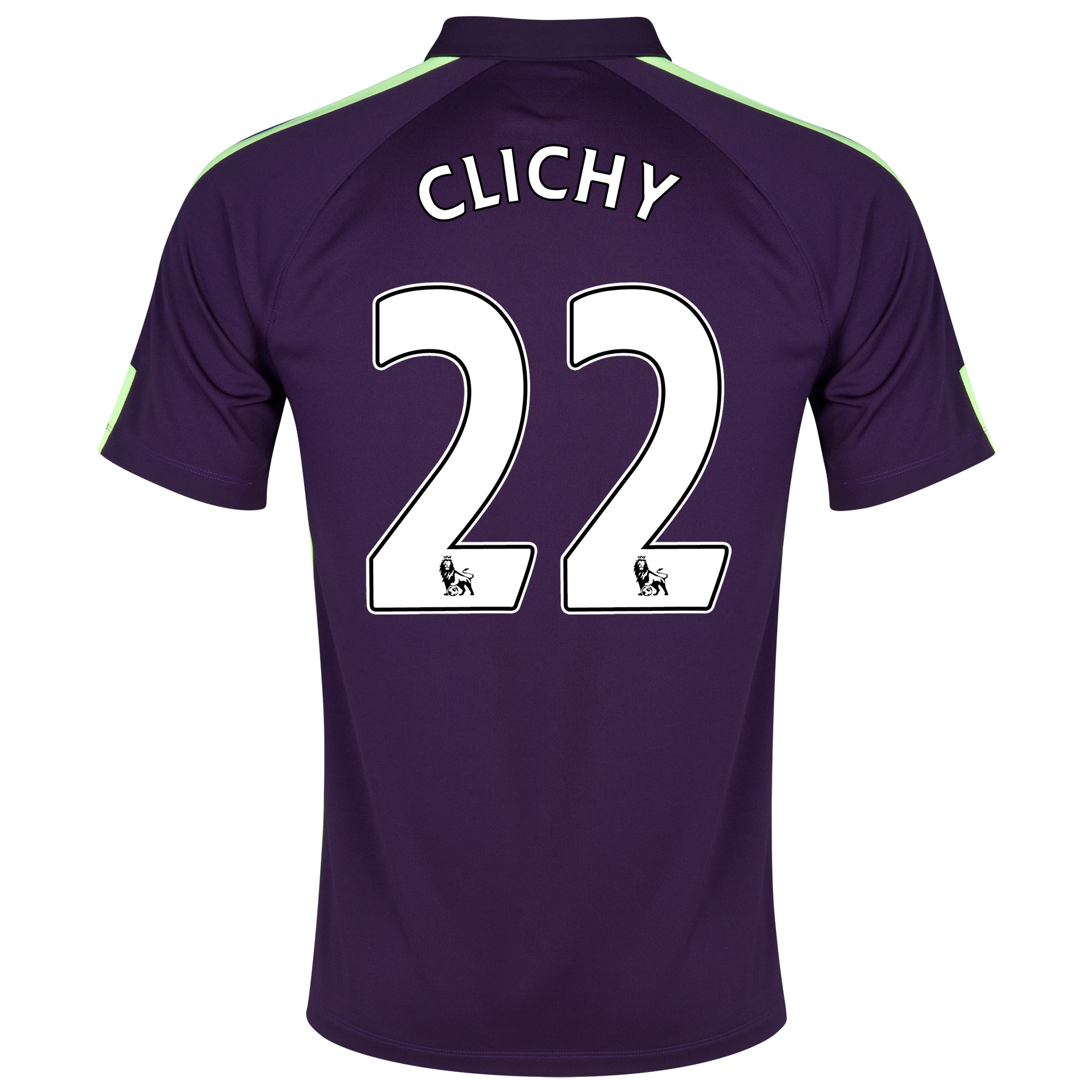 Manchester City Cup Away Shirt 2014/15 Purple with Clichy 22 printing