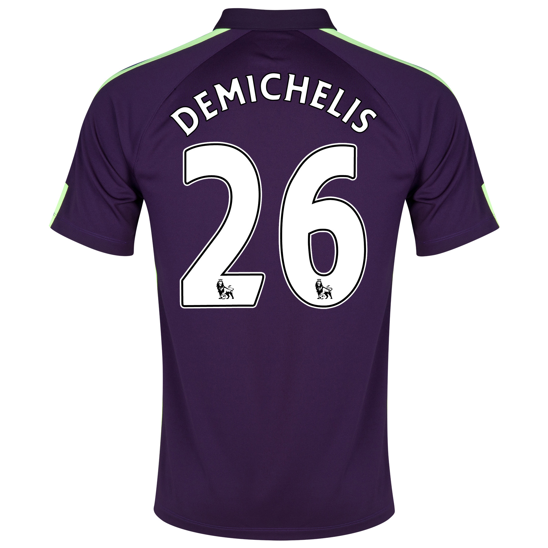 Manchester City Cup Away Shirt 2014/15 Purple with Demichelis 26 printing