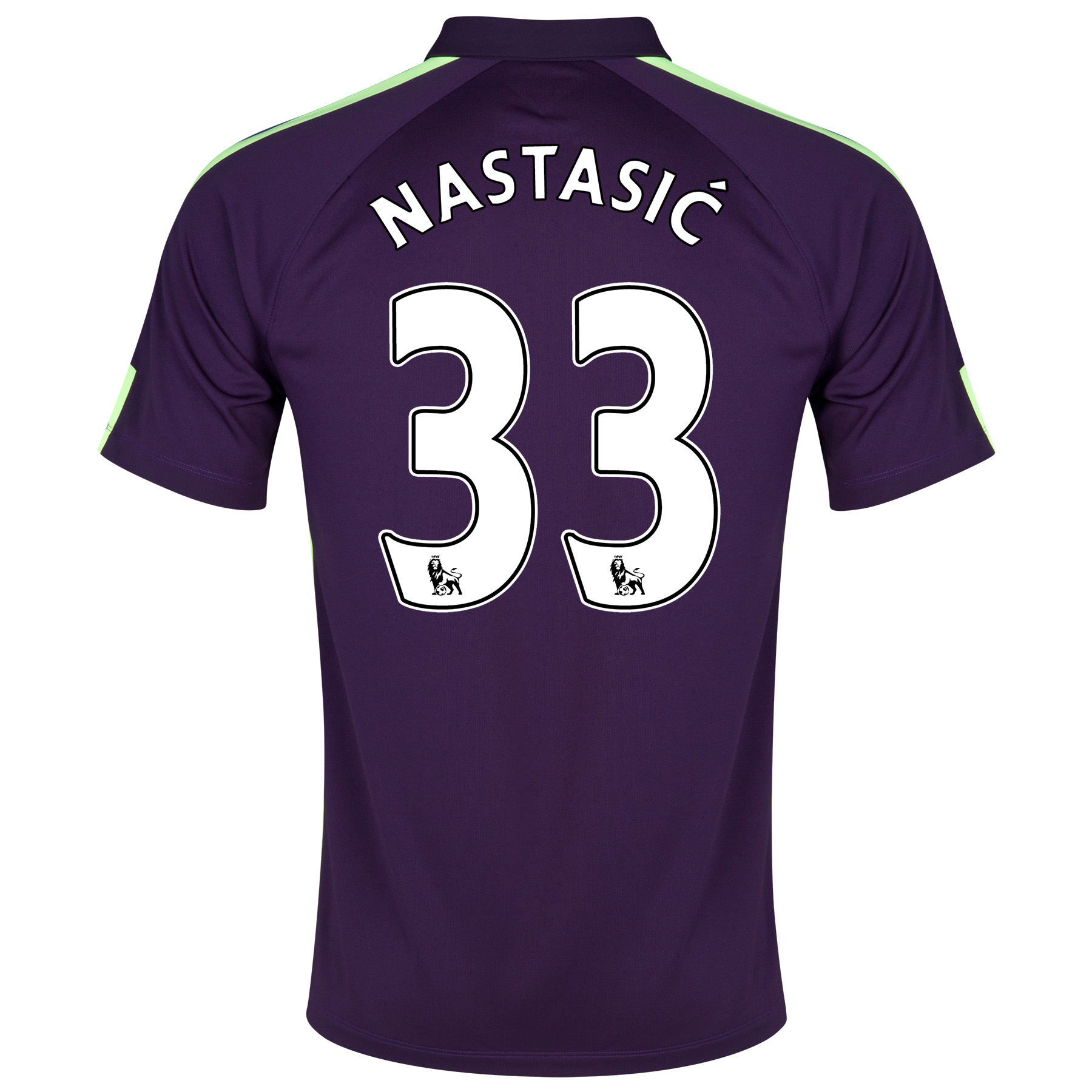 Manchester City Cup Away Shirt 2014/15 Purple with Nastasic 33 printing