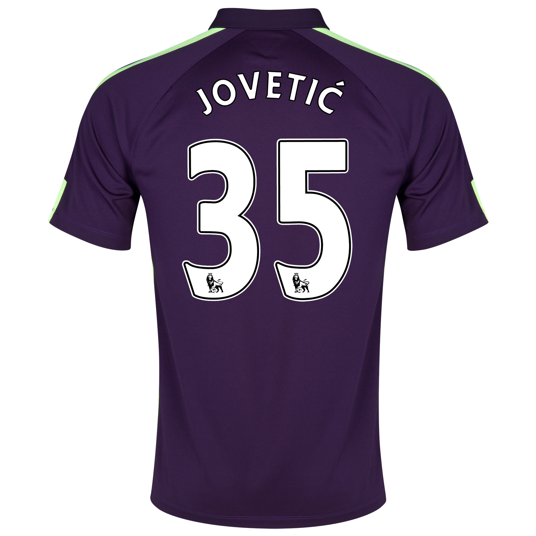 Manchester City Cup Away Shirt 2014/15 Purple with Jovetic 35 printing