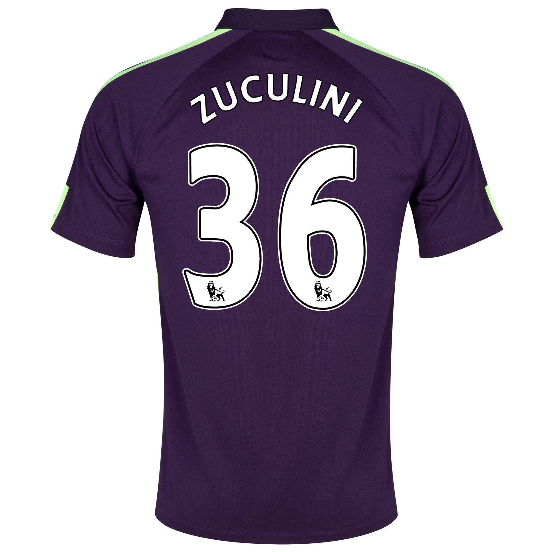 Manchester City Cup Away Shirt 2014/15 Purple with Zuculini 36 printing