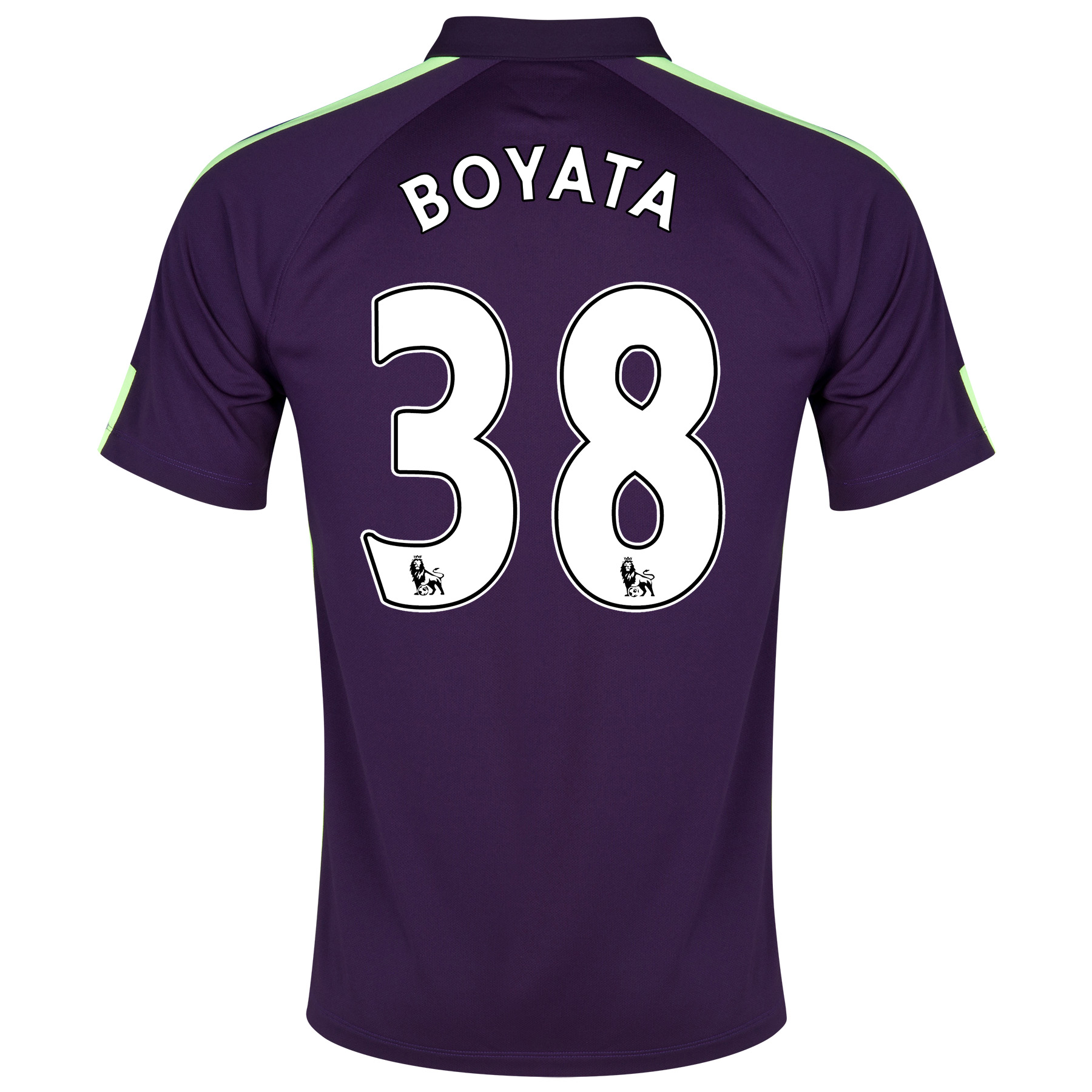 Manchester City Cup Away Shirt 2014/15 Purple with Boyata 38 printing