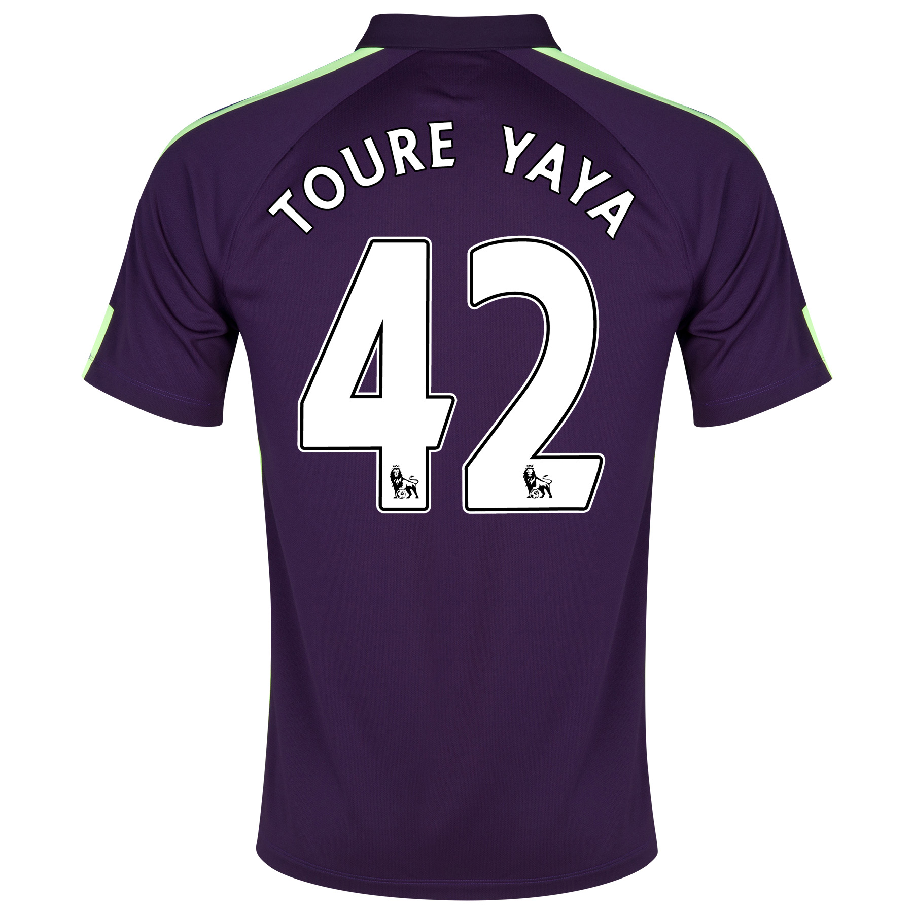 Manchester City Cup Away Shirt 2014/15 - Kids Purple with Toure Yaya 42 printing