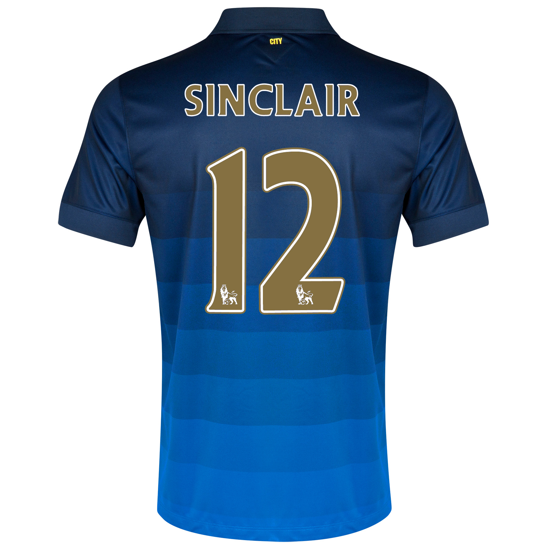Manchester City Away Shirt 2014/15 with Sinclair 12 printing