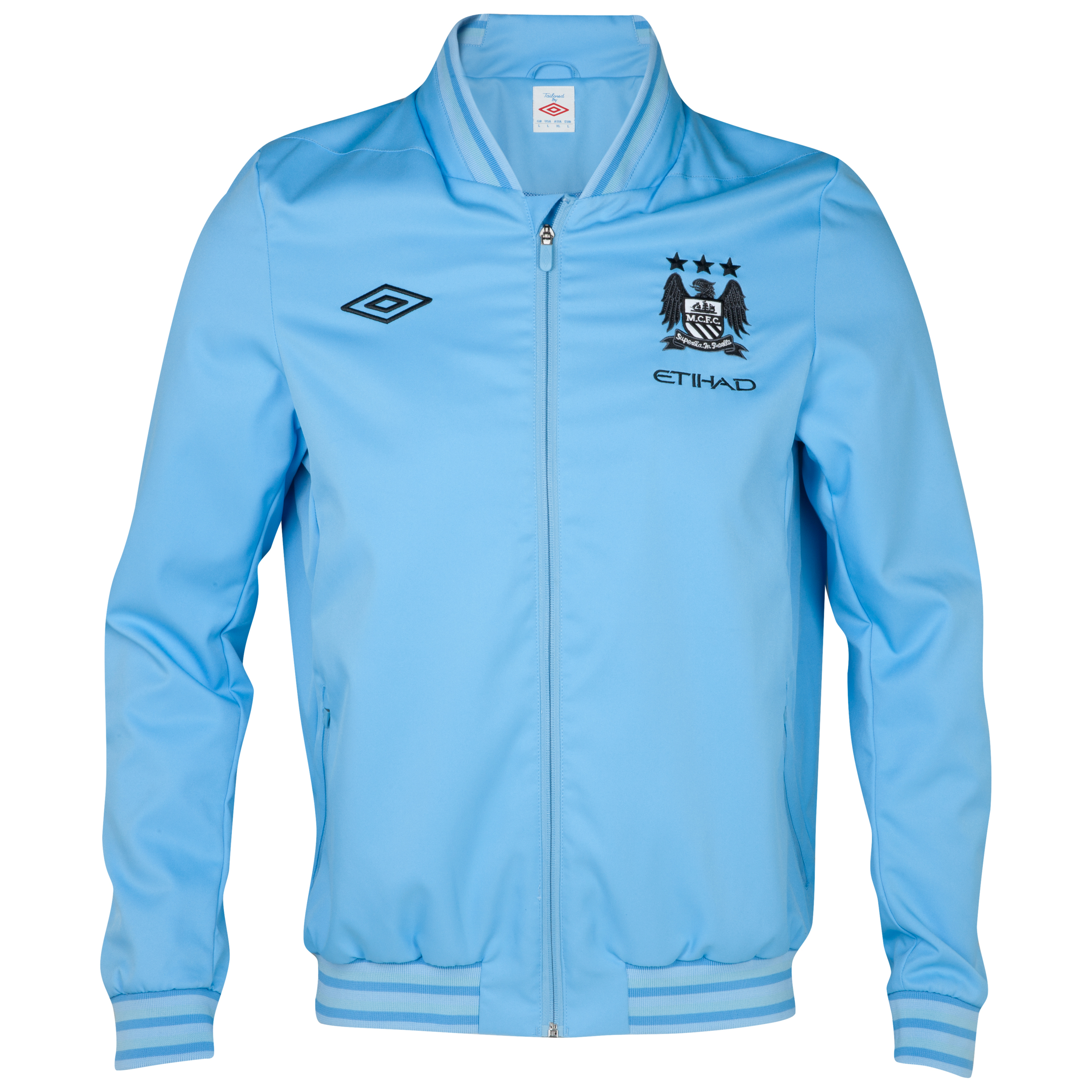 Manchester City Home Walkout Jacket - Sky