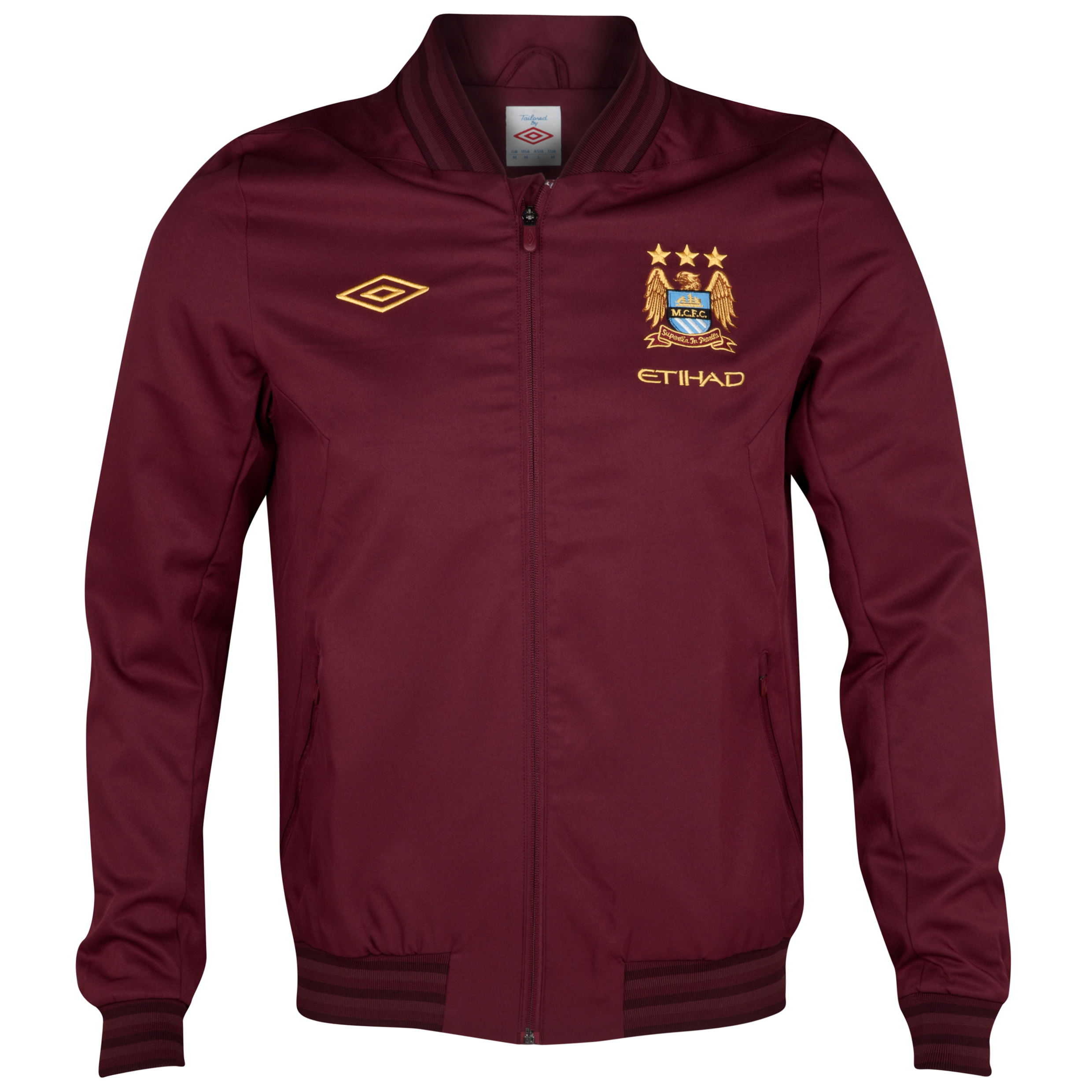 Manchester City Away Walkout Jacket - Maroon