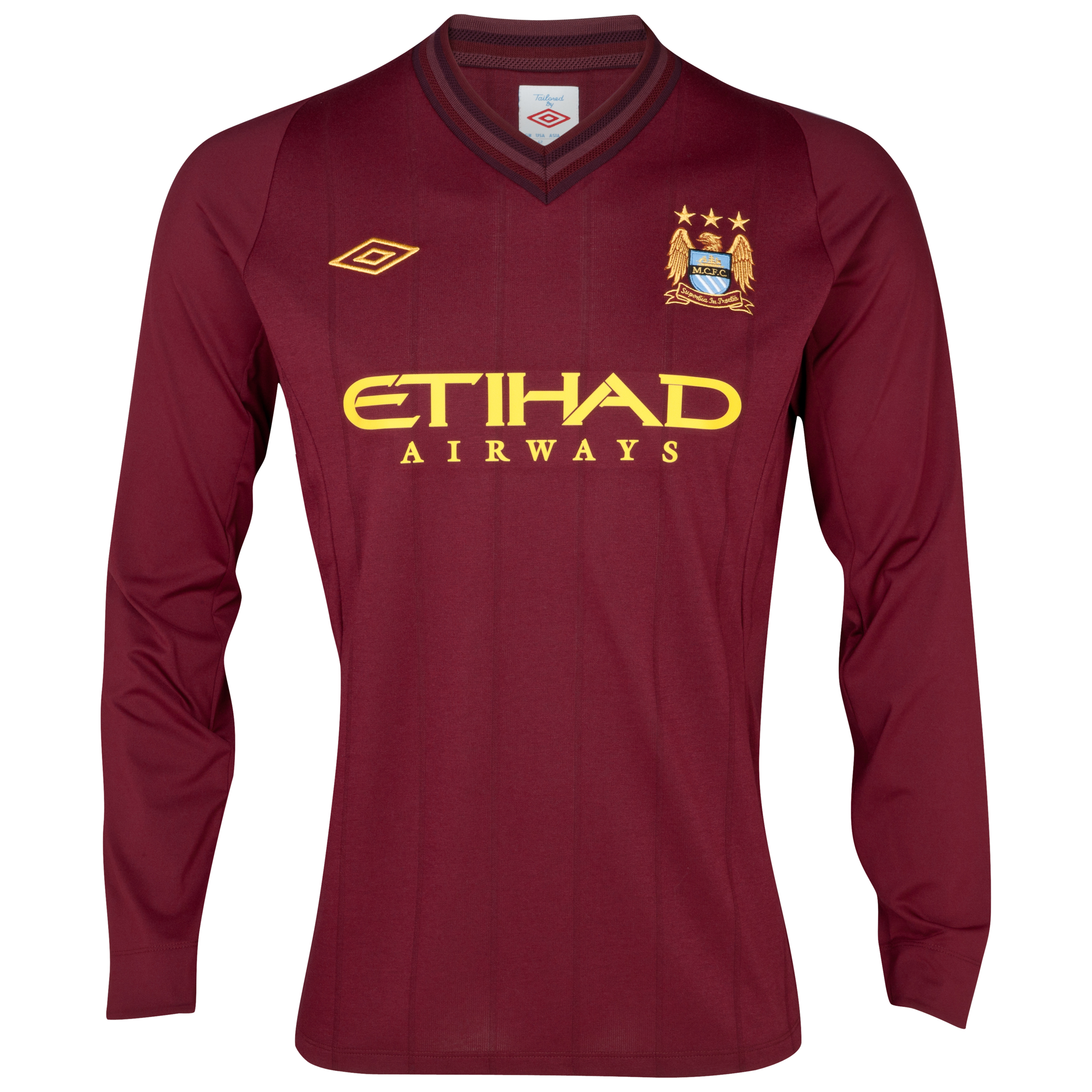 Manchester City Away Shirt 2012/13 Long Sleeved