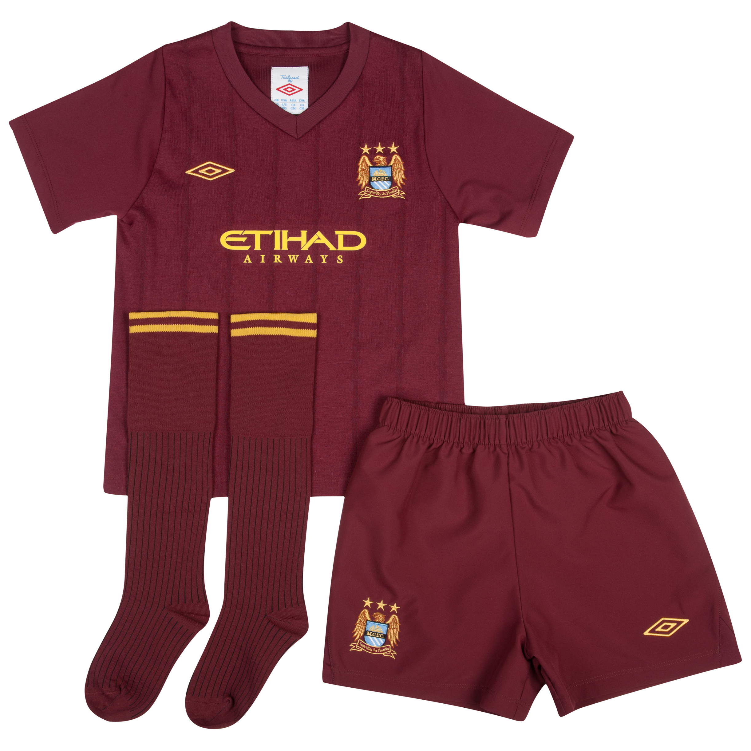 Manchester City Away Infant Kit 2012/13