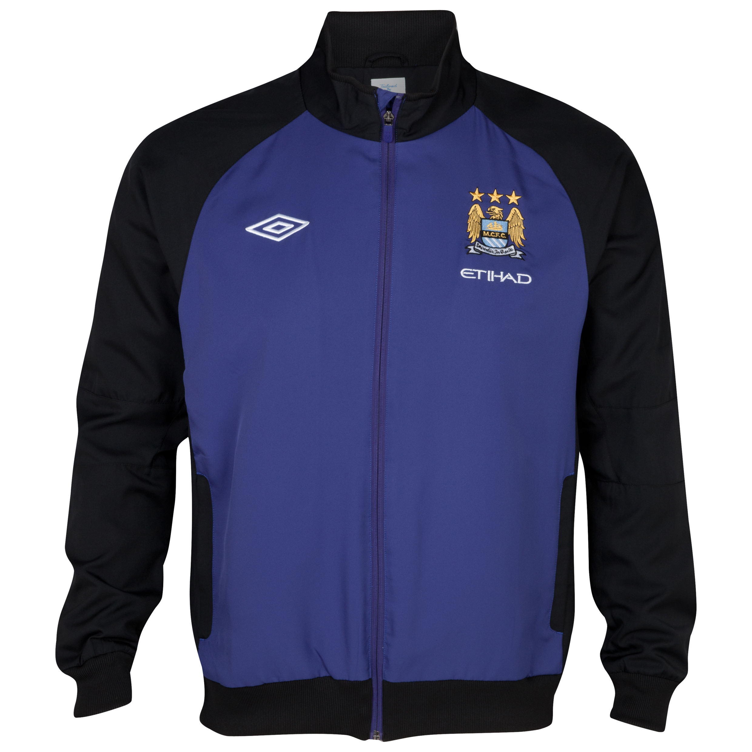 Manchester City Training Woven Jacket - Deep Wisteria / Black