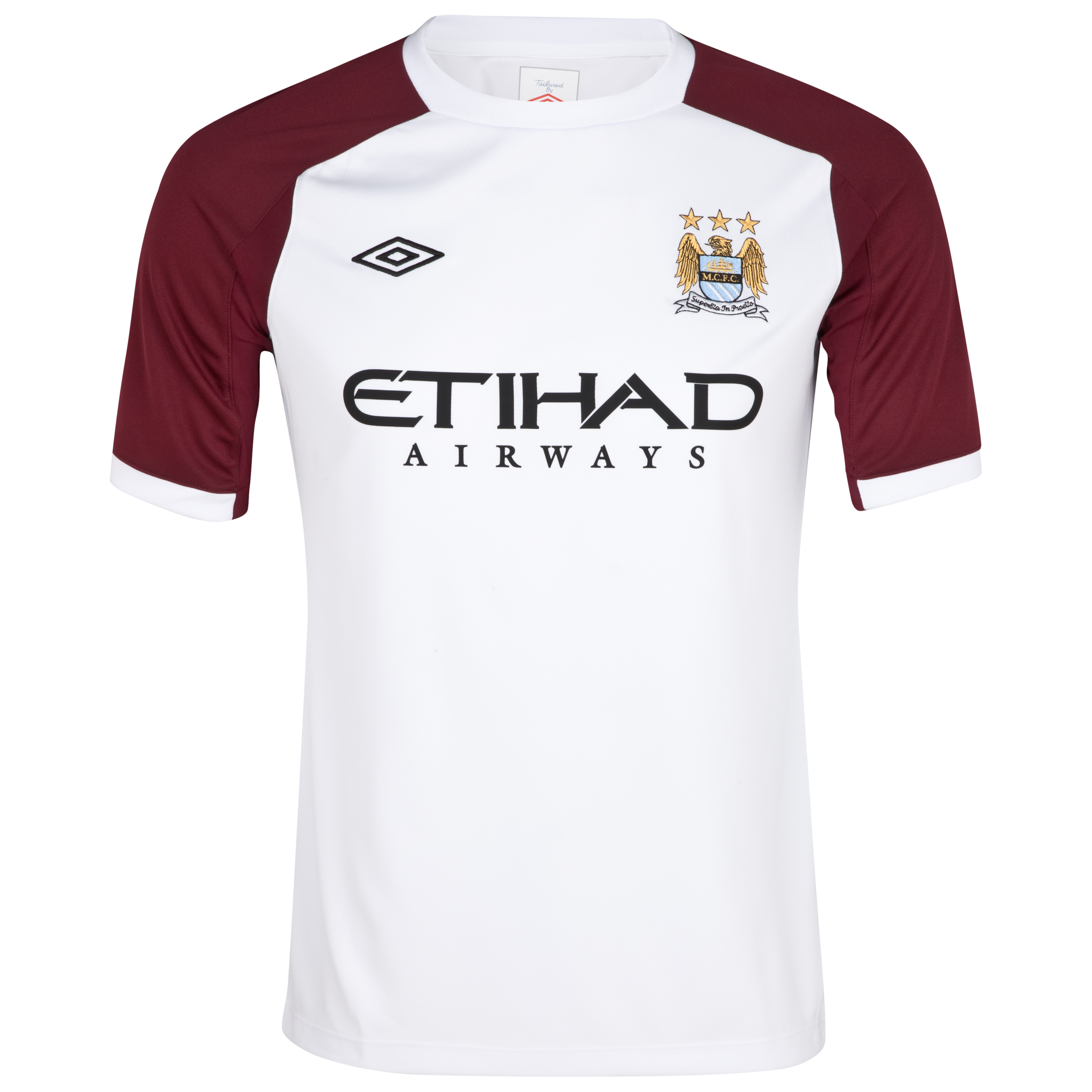 Manchester City Training T-Shirt - White/Maroon