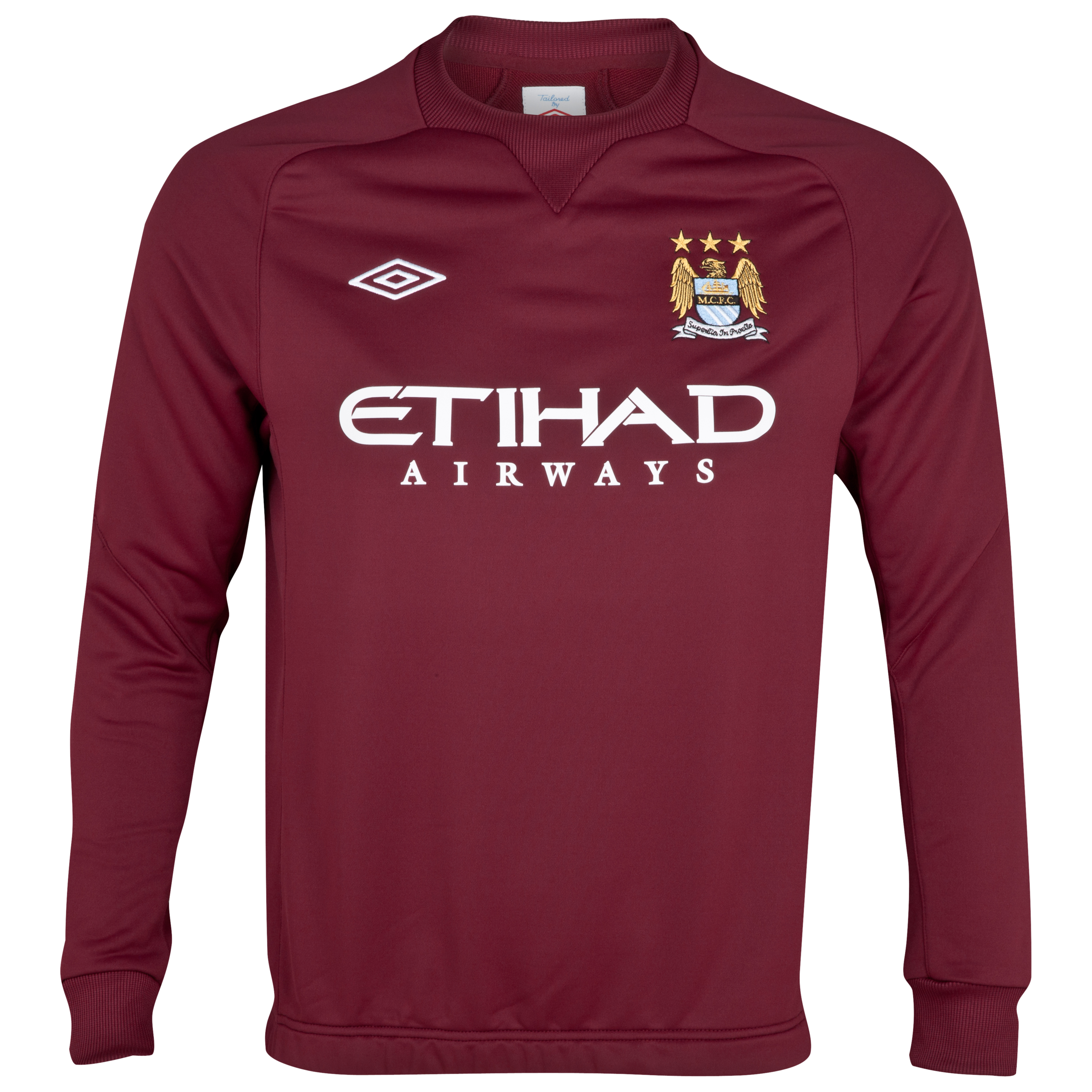 Manchester City Training Sweat Top - Maroon