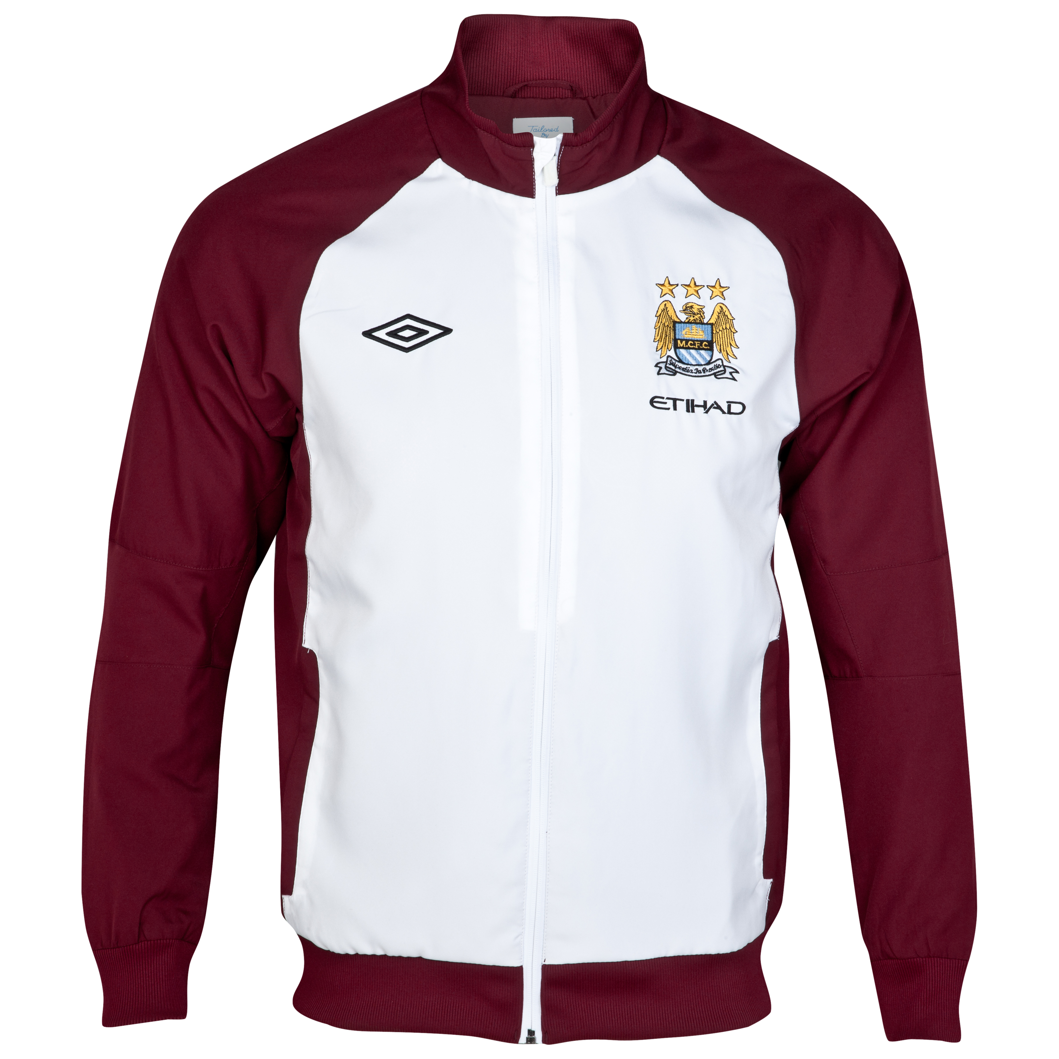 Manchester City Training Woven Jacket - White/Maroon