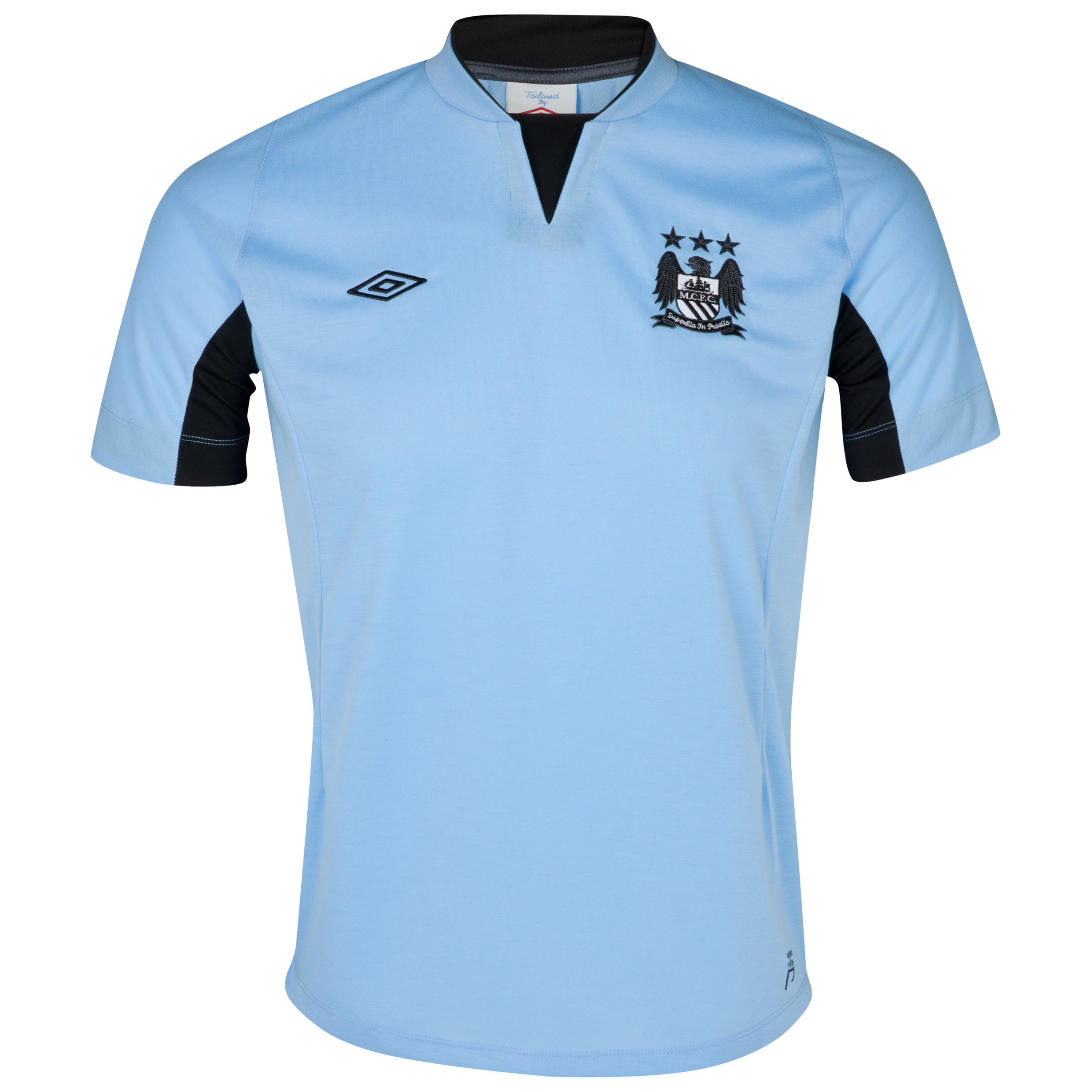 Manchester City Training Knitted T-Shirt - Vista Blue