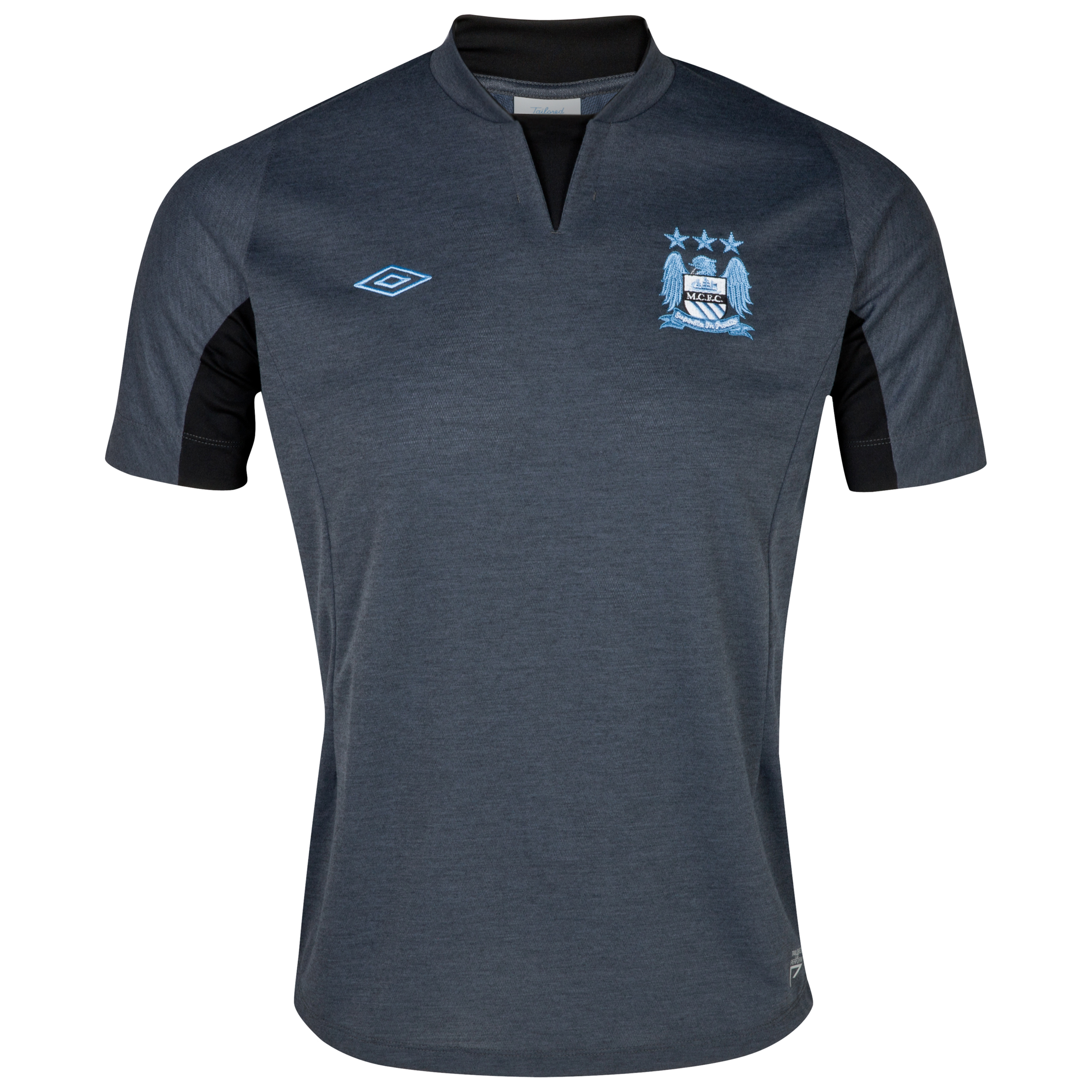 Manchester City Training  Knitted T-Shirt - Carbon Marl