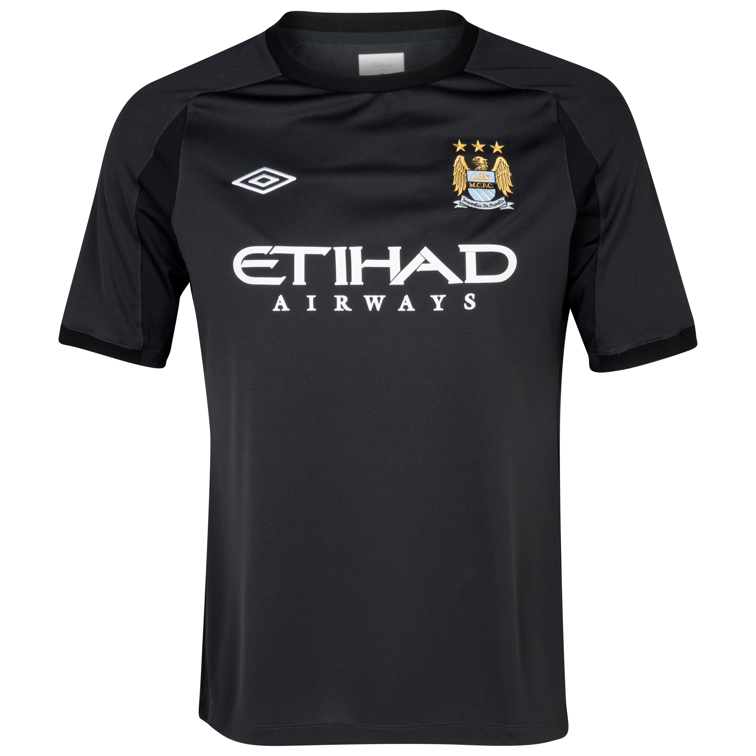 Manchester City Training T-Shirt - Junior - Black
