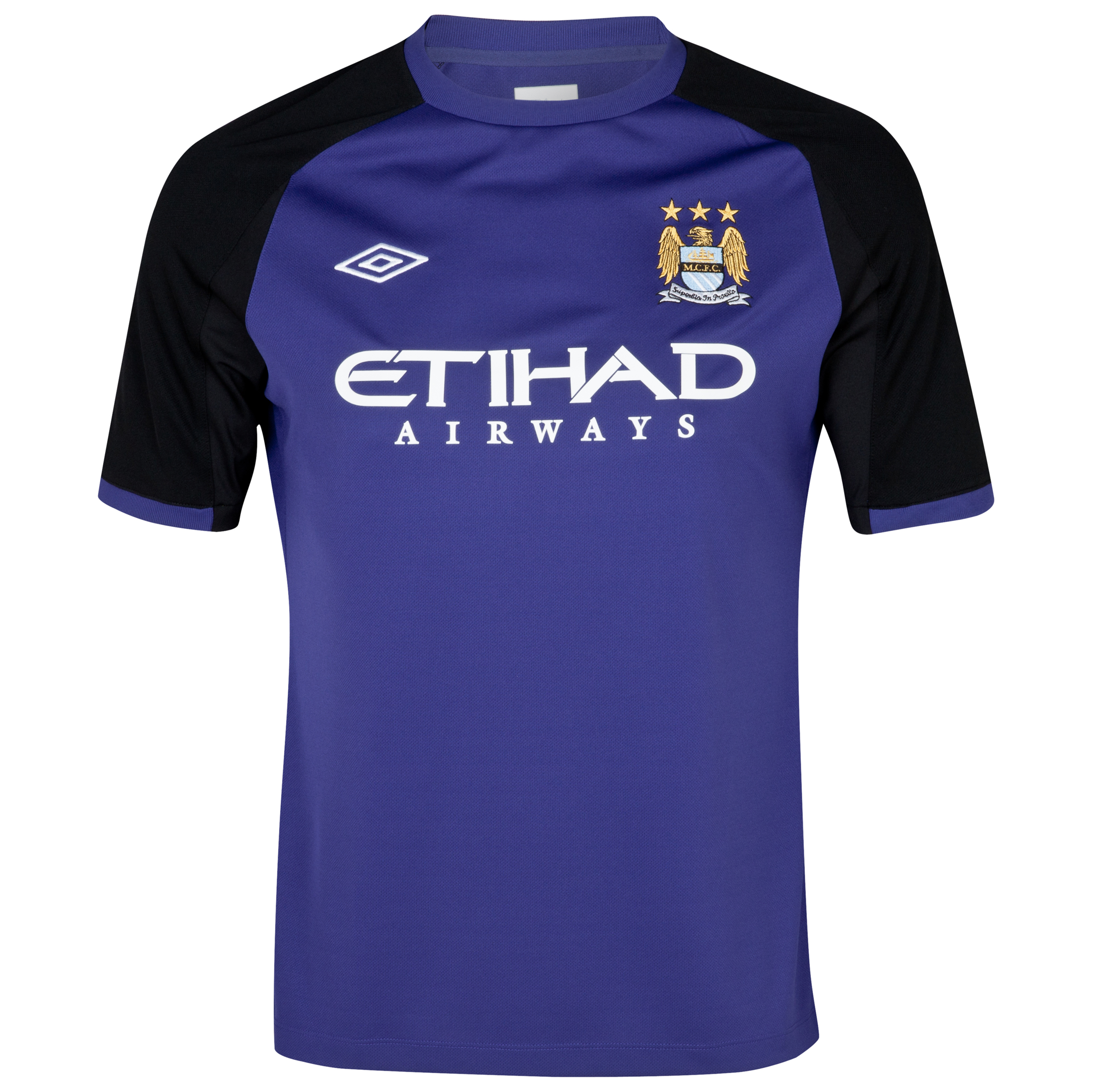Manchester City Training T-Shirt - Junior - Deep Wisteria / Black