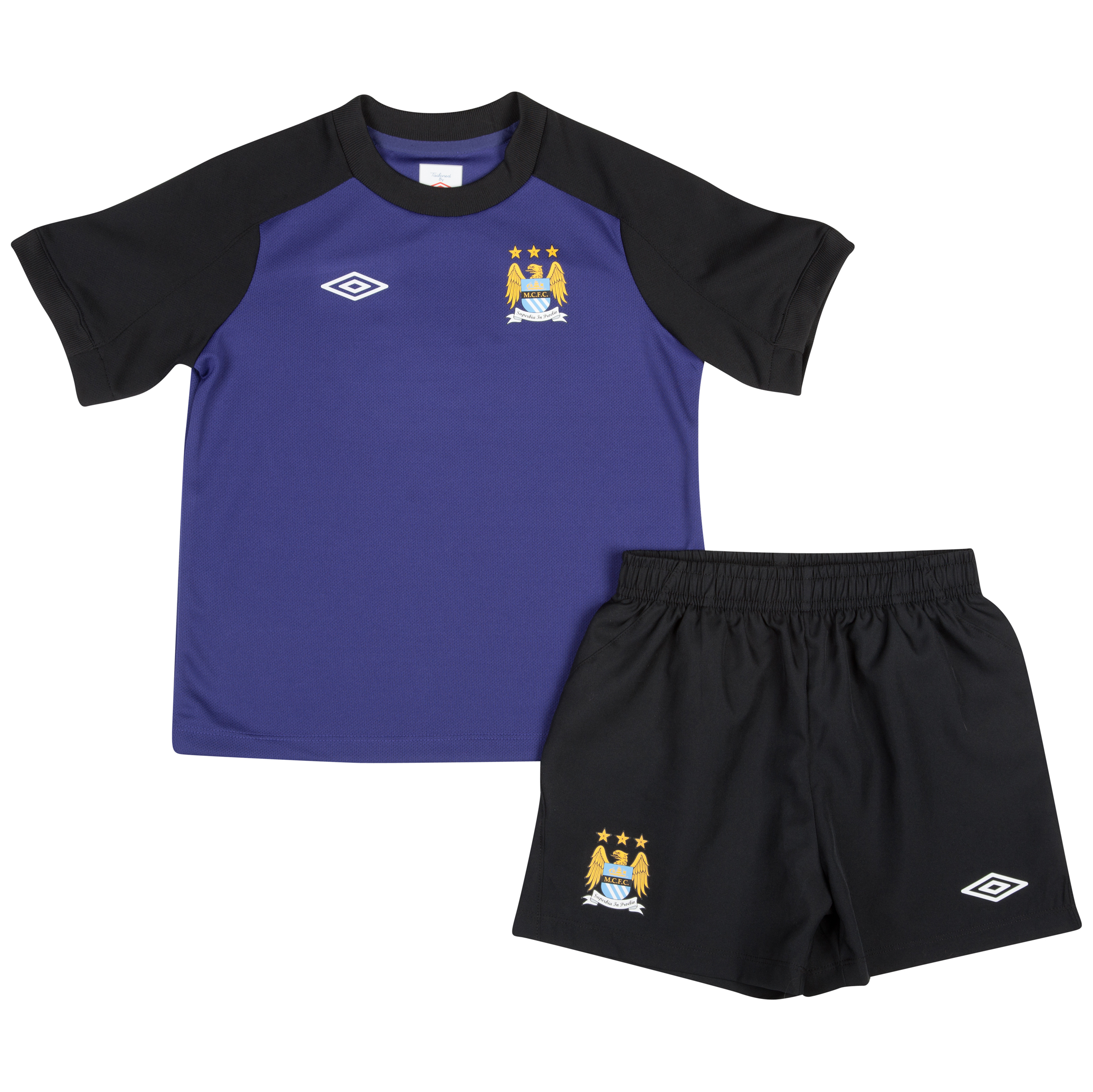 Manchester City Infant Training Kit - Deep Wisteria / Black