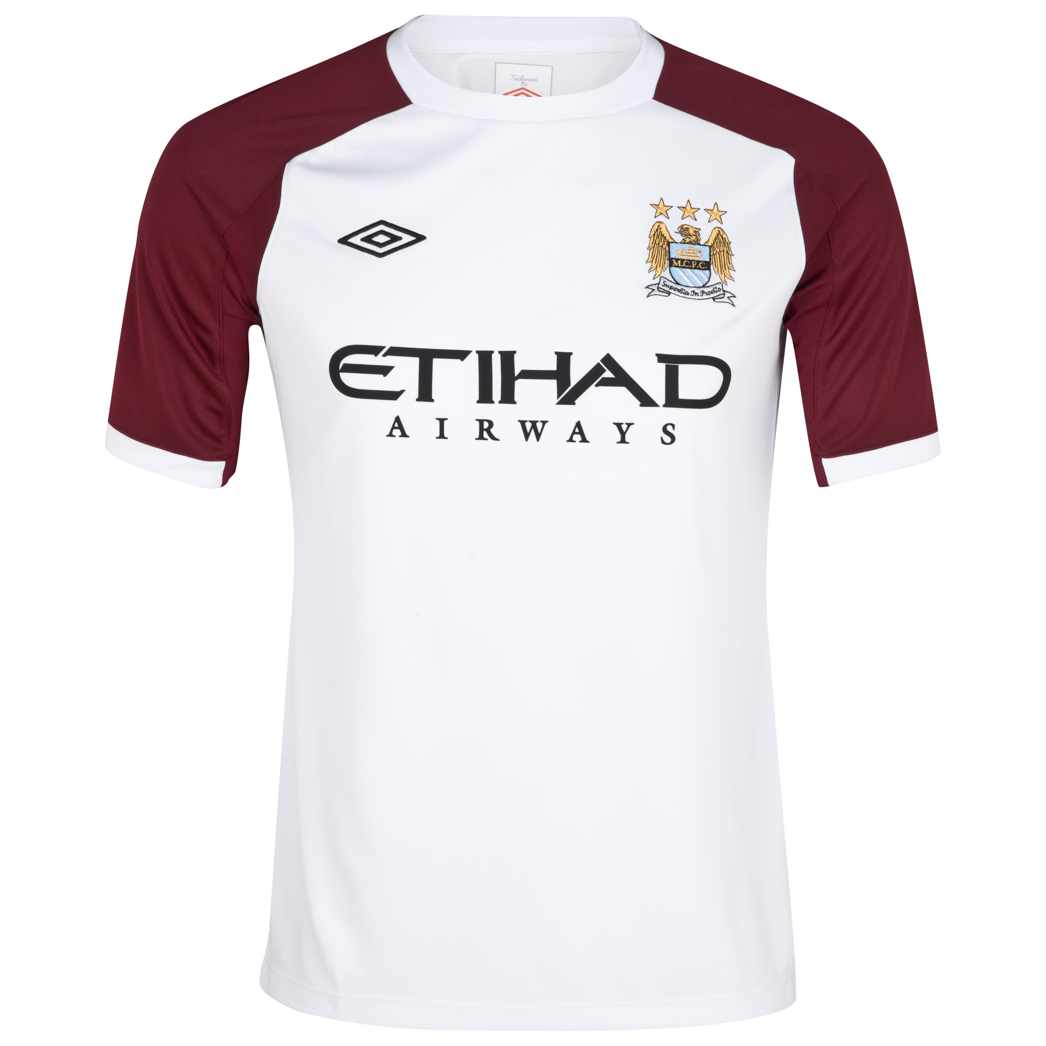 Manchester City Training T-Shirt - Junior - White/Maroon