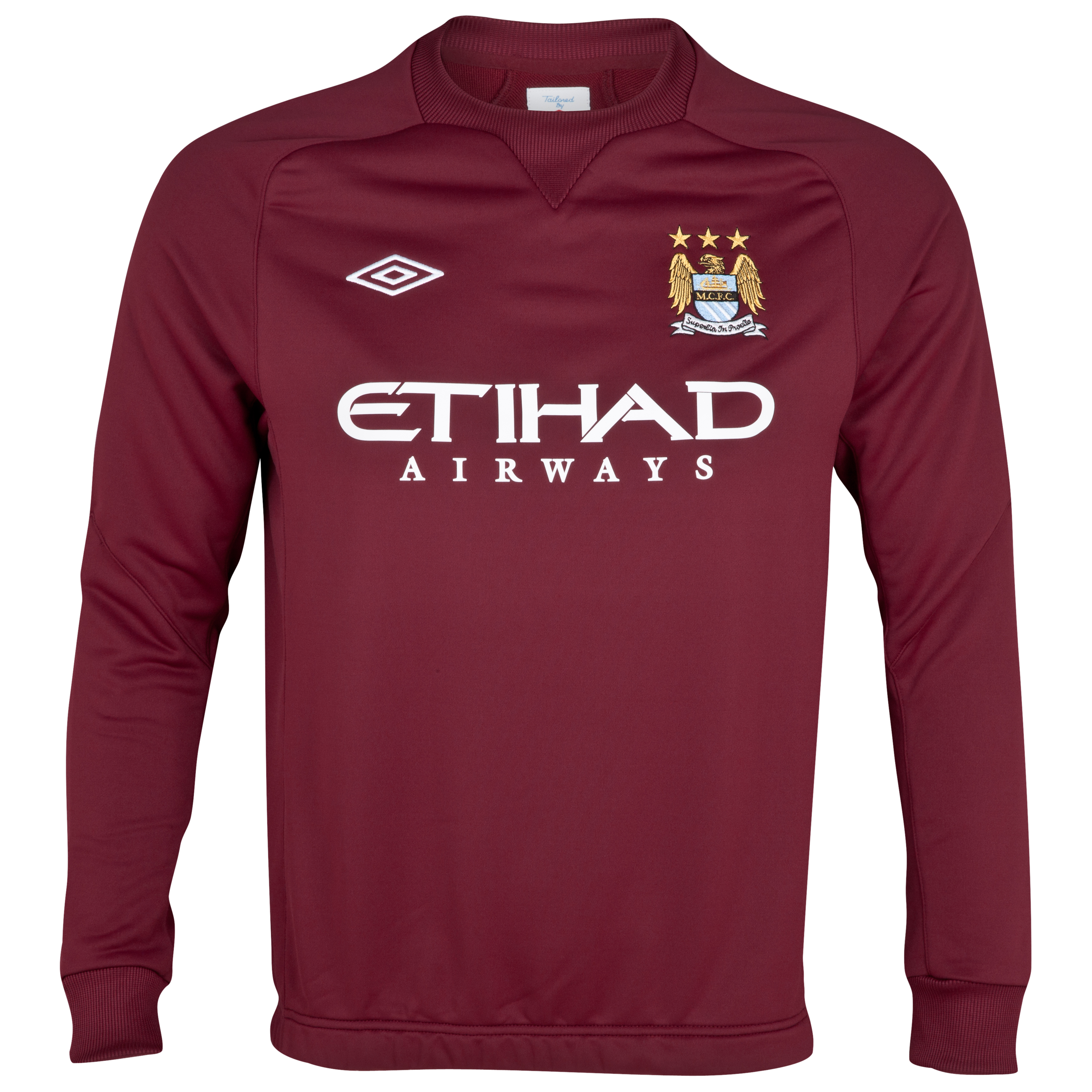Manchester City Training Sweat Top - Junior - Maroon