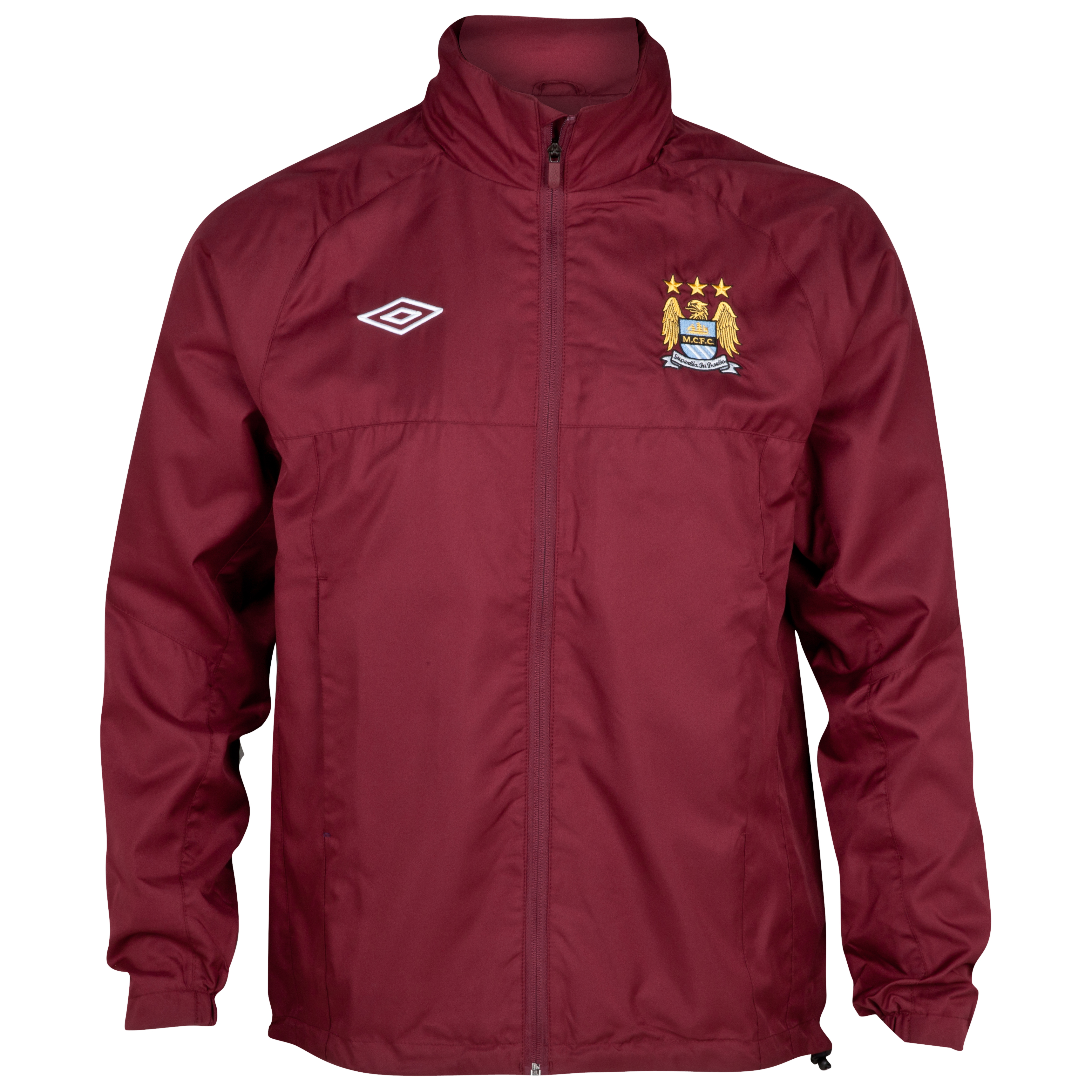 Manchester City Training Shower Jacket - Junior - Maroon