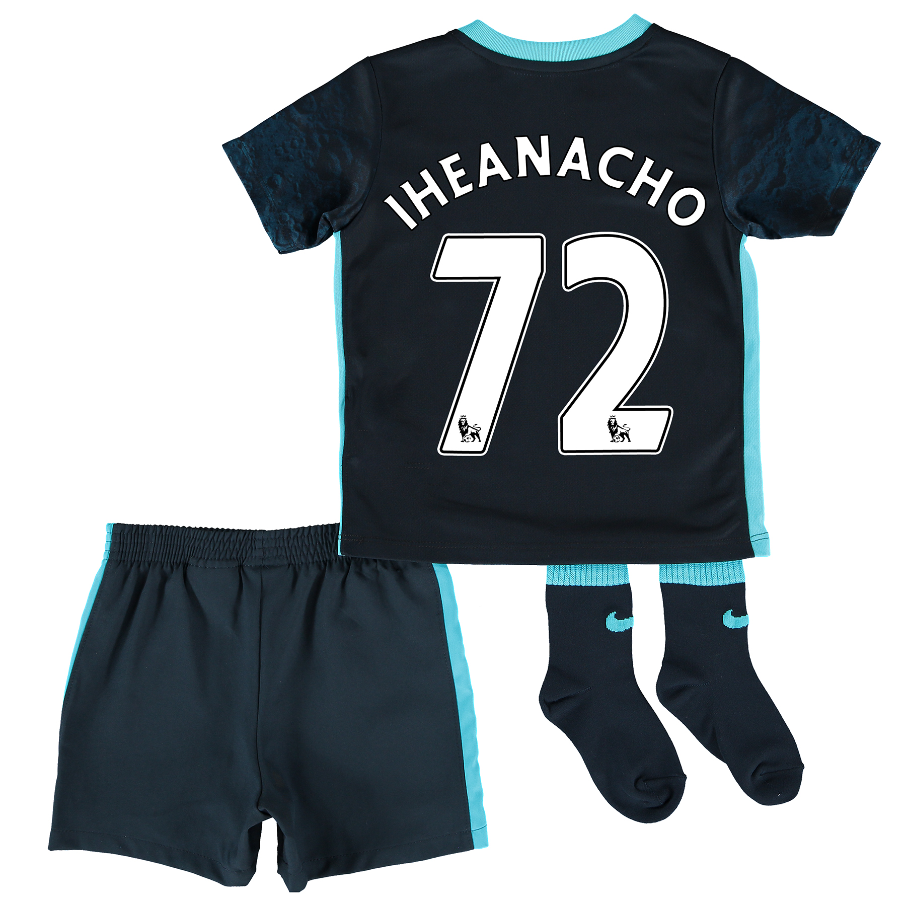 Manchester City Away Kit 2015/16 - Infants with Iheanacho 72 printing