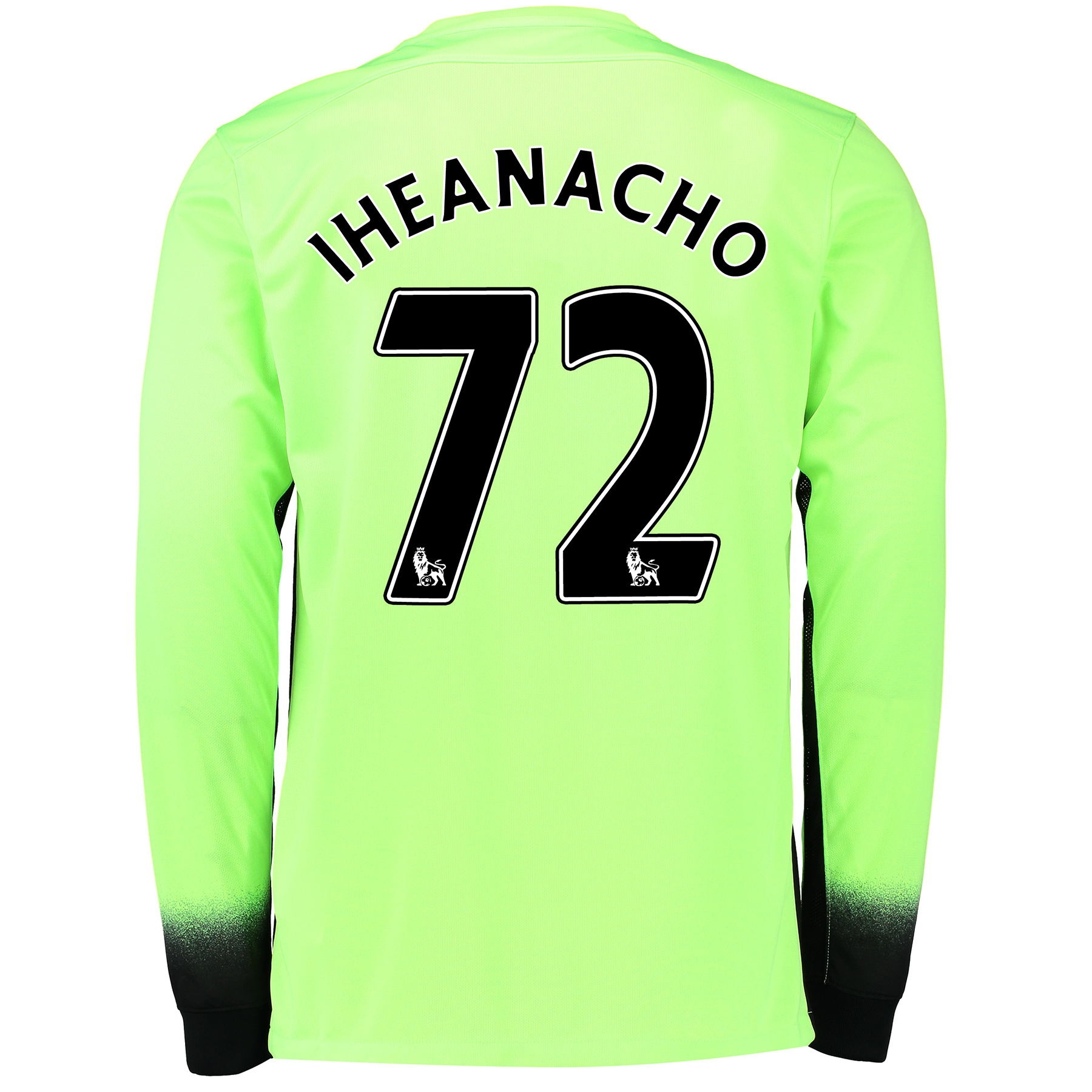 Manchester City 3rd Shirt 2015/16 - Long Sleeve Green with Iheanacho 7