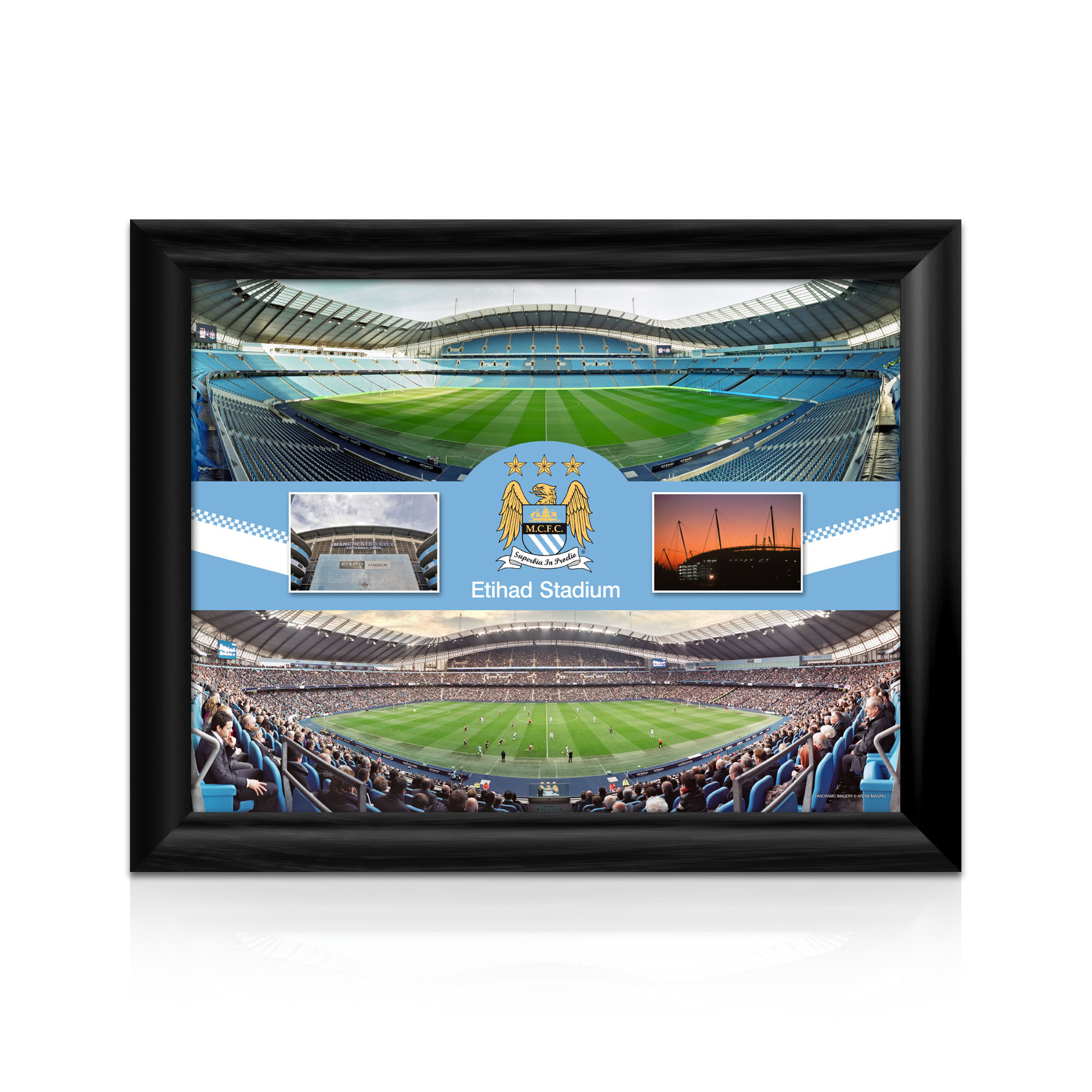 Manchester City Panoramic Montage 16 x 12