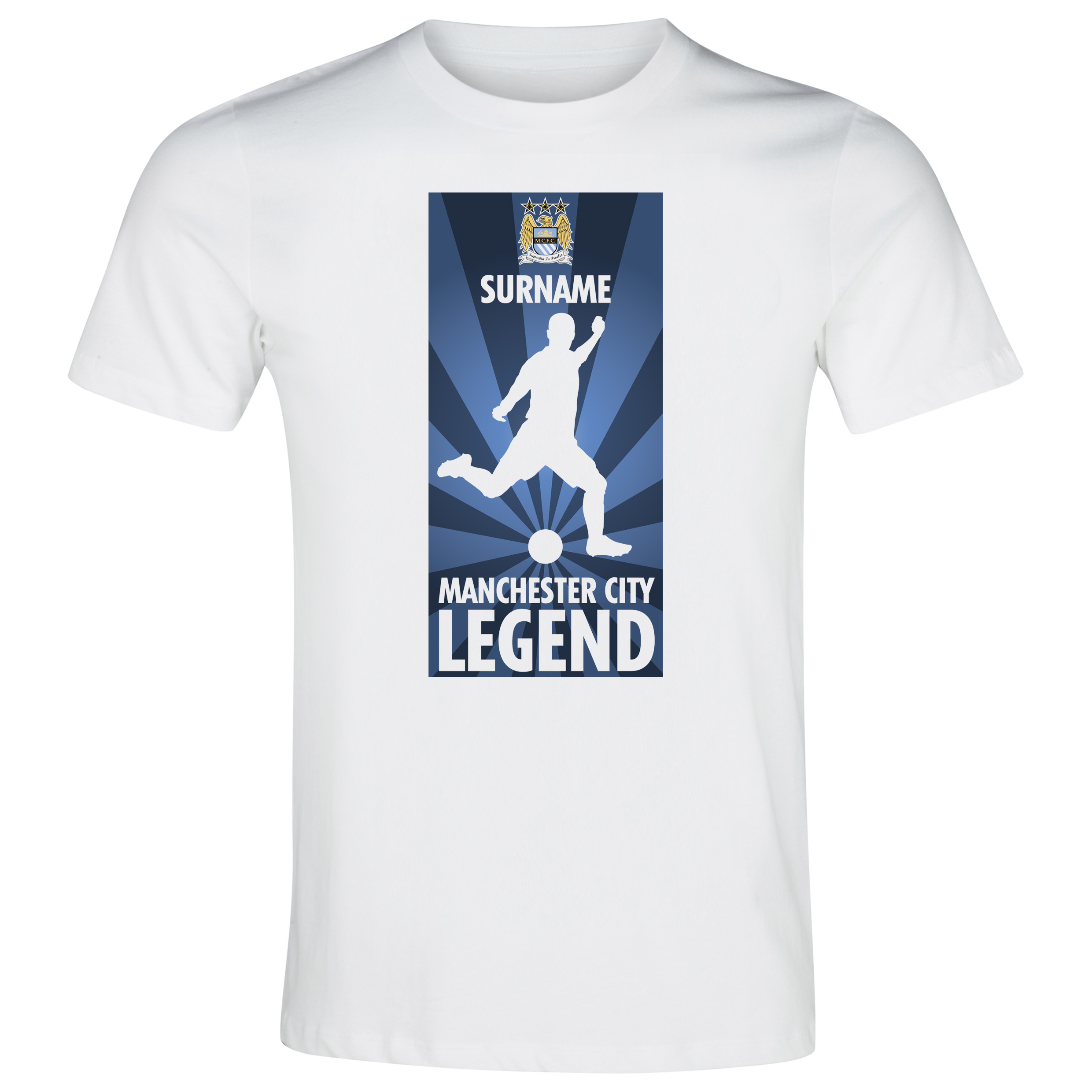 Manchester City Personalised Legend T-Shirt