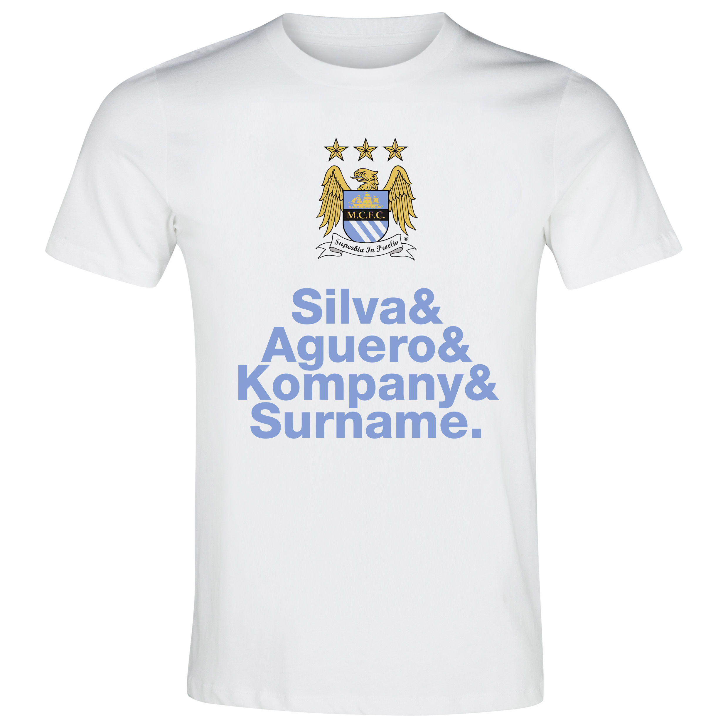 Manchester City Personalised Player T-Shirt