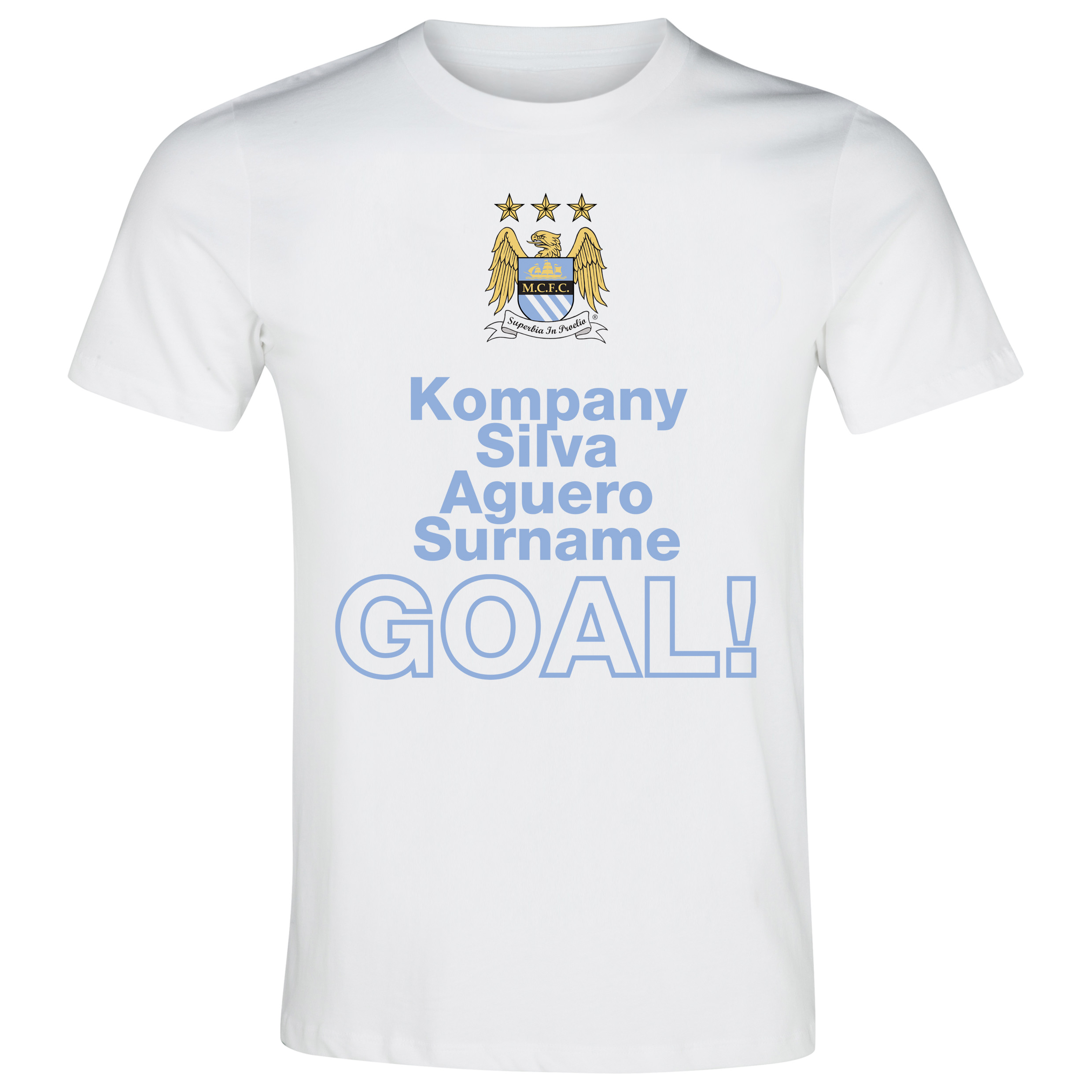 Manchester City Personalised Goal T-Shirt