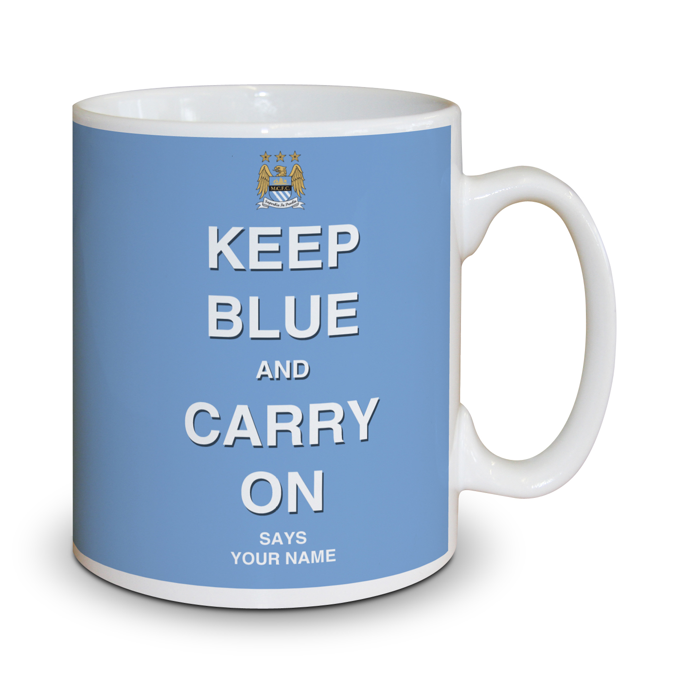 Manchester City Personalised Keep Blue Mug