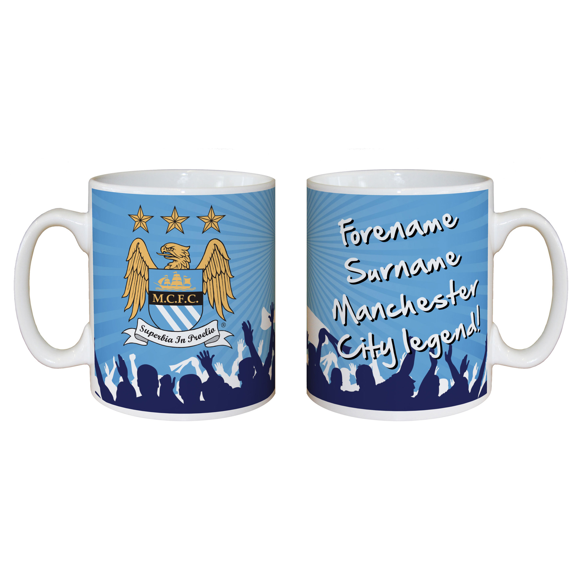 Manchester City Personalised Legend Mug