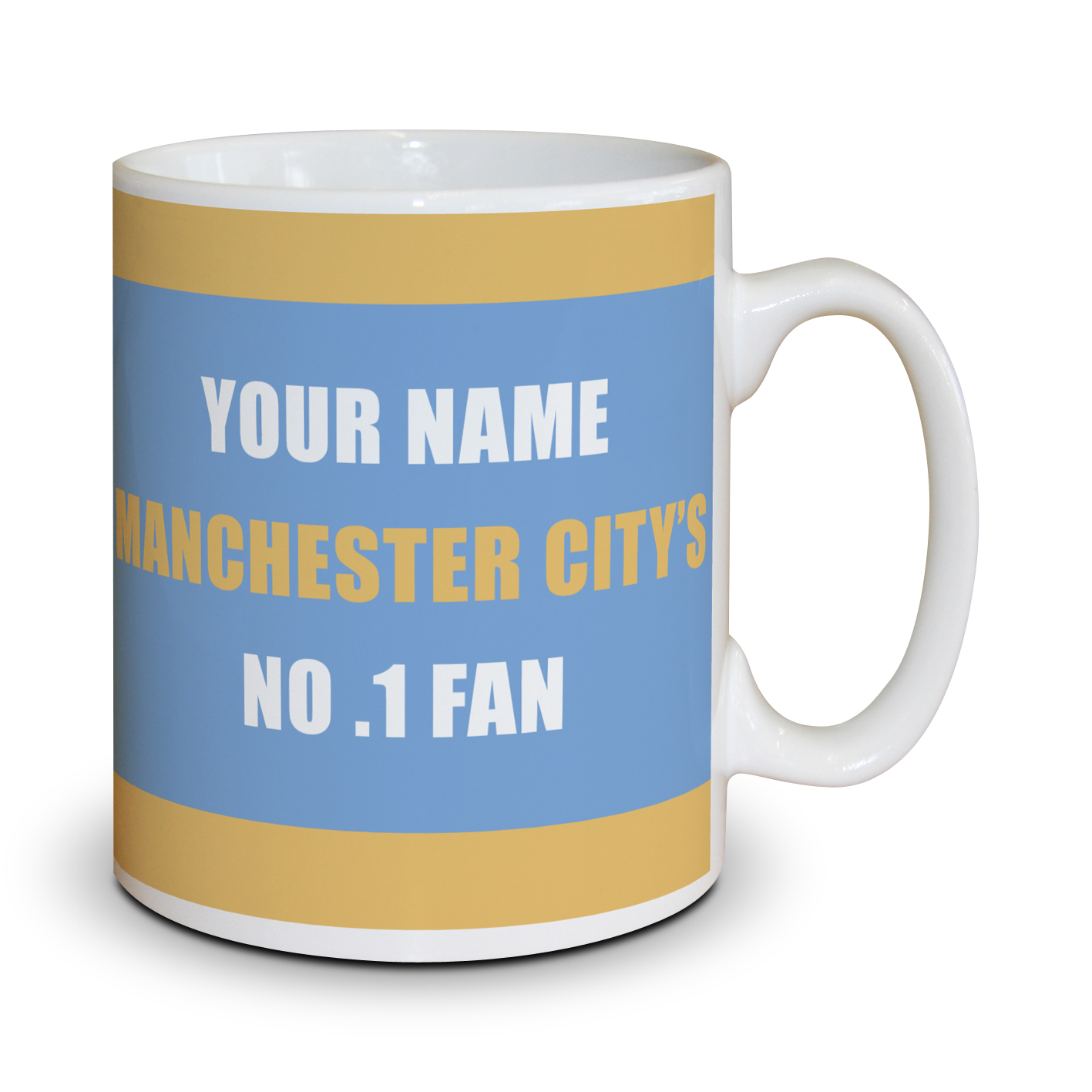 Manchester City Personalised No.1 Fan Mug