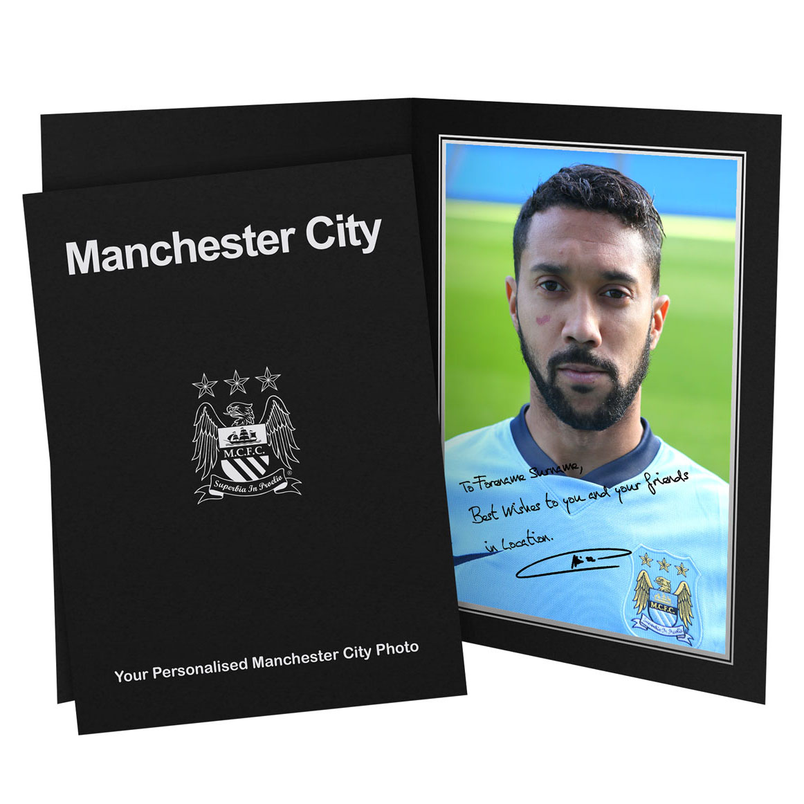 Manchester City Personalised Signature Photo in Presentation Folder - Gael Clichy
