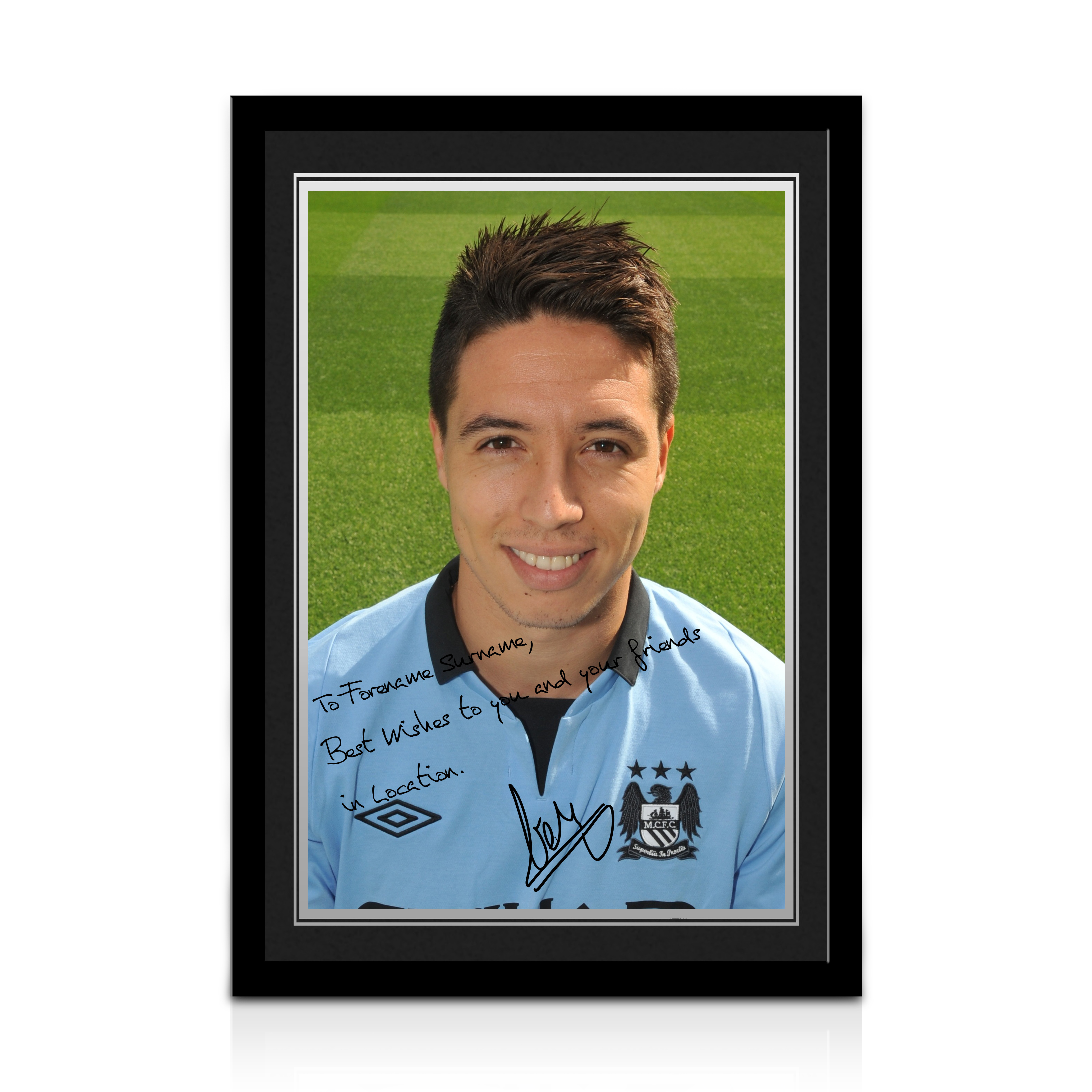 Manchester City Personalised Signature Photo Frame - Samir Nasri